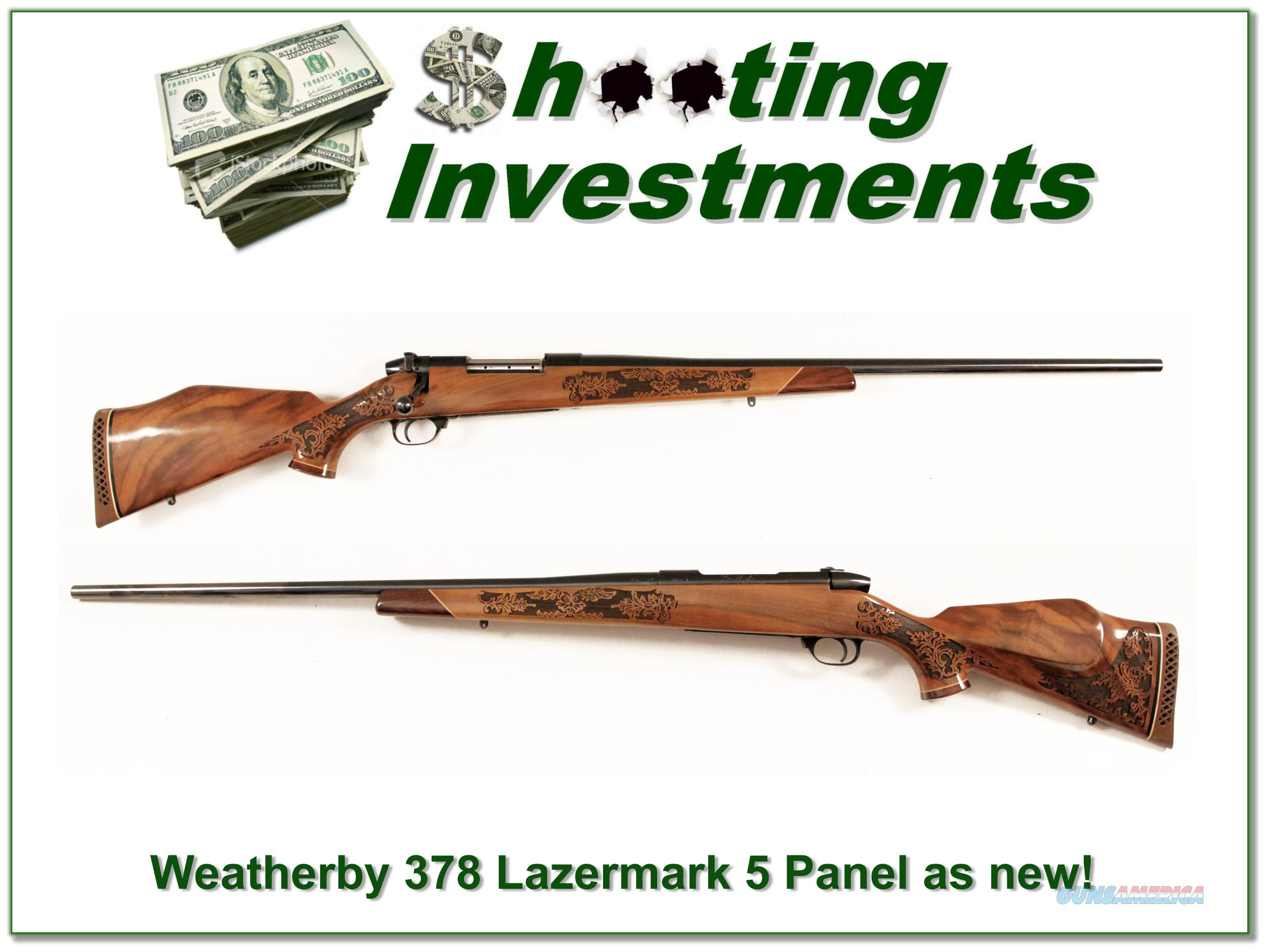 Weatherby Mark V 378 Wthy Lazermark 5 Panel as new  Guns > Rifles > Weatherby Rifles > Sporting