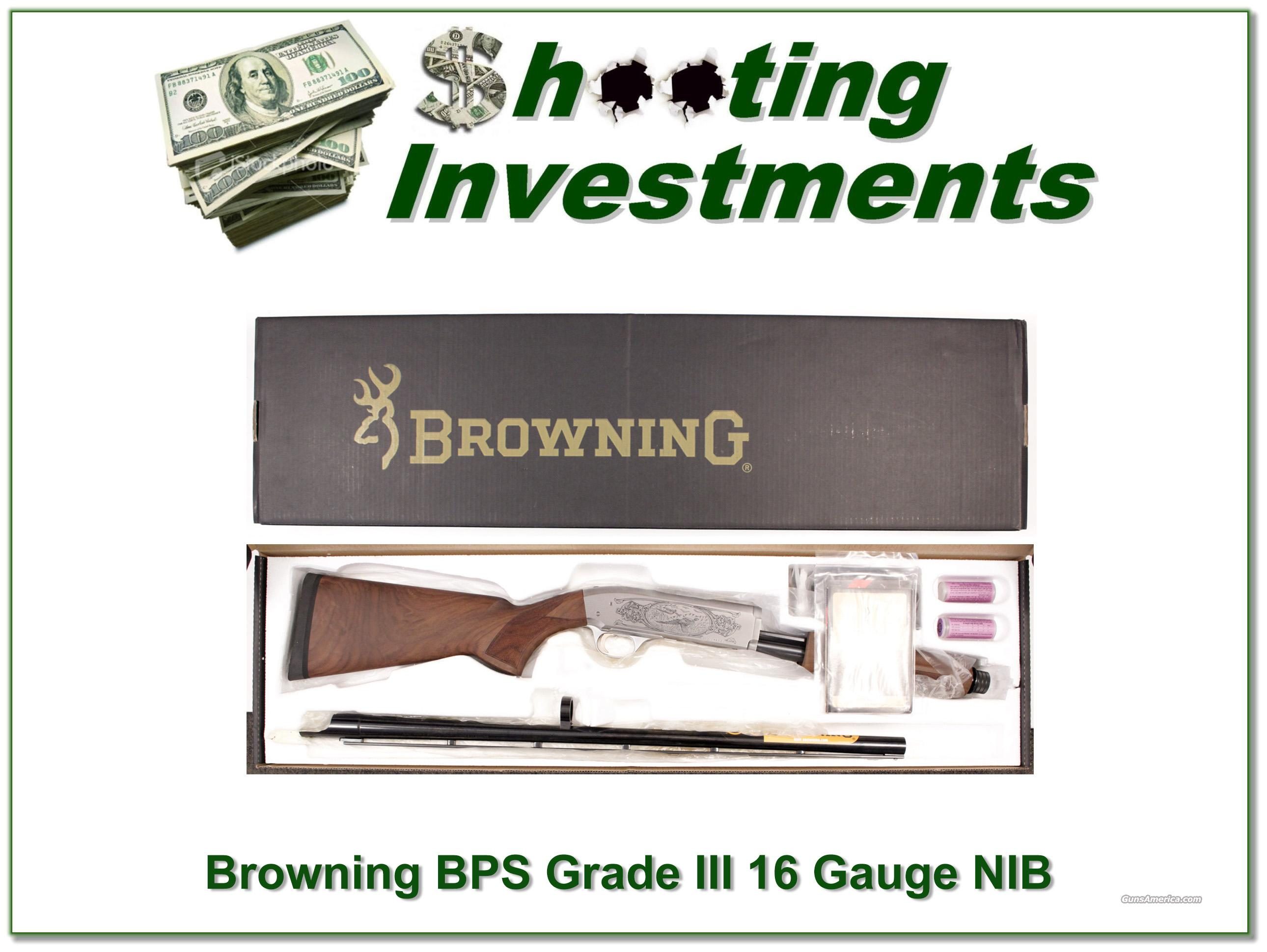 Browning BPS Grade III no longer made 16 gauge NIB  Guns > Shotguns > Browning Shotguns > Pump Action > Hunting
