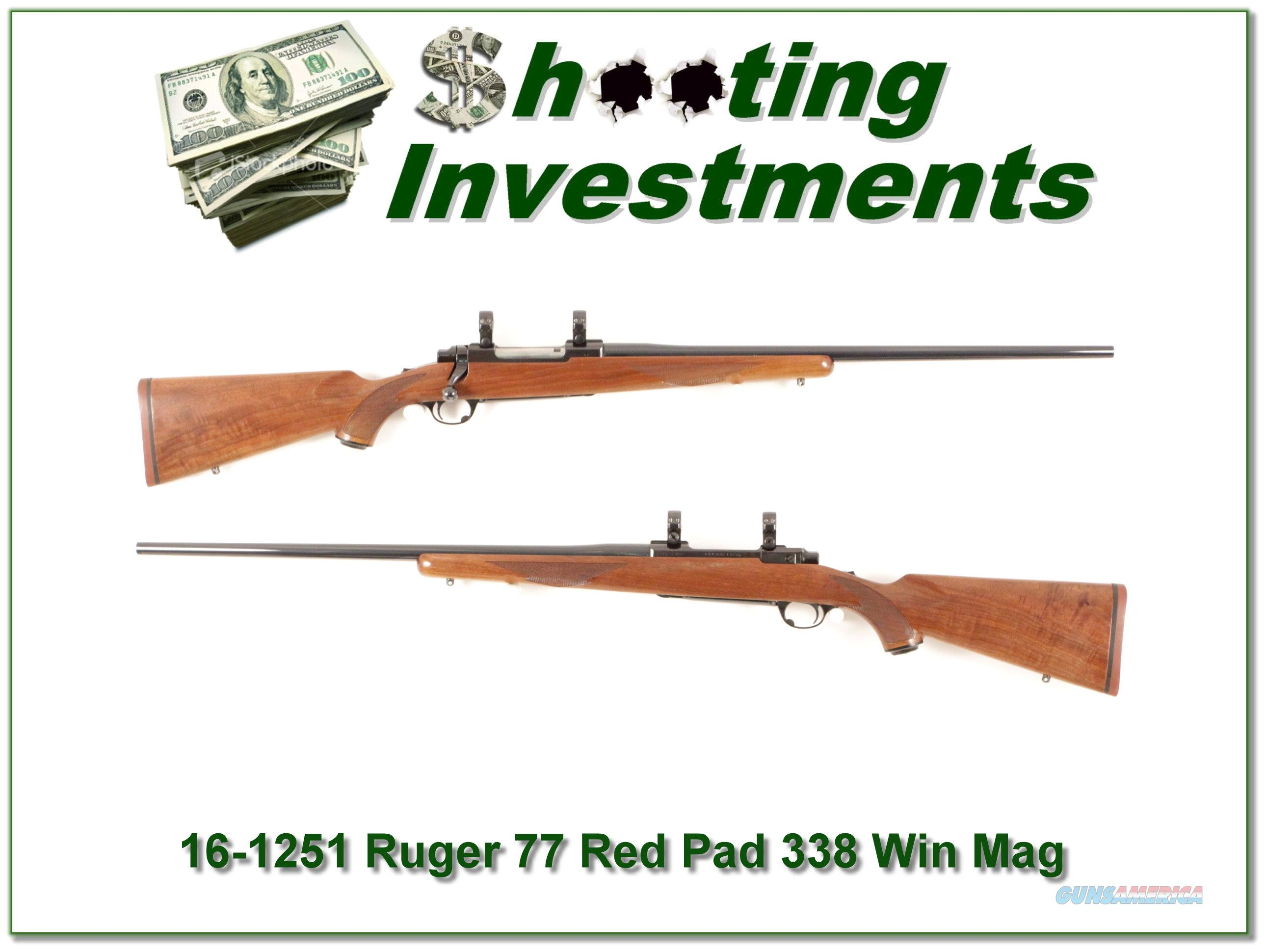 Ruger 77 Red Pad 338 Win Mag Exc Cond!  Guns > Rifles > Ruger Rifles > Model 77