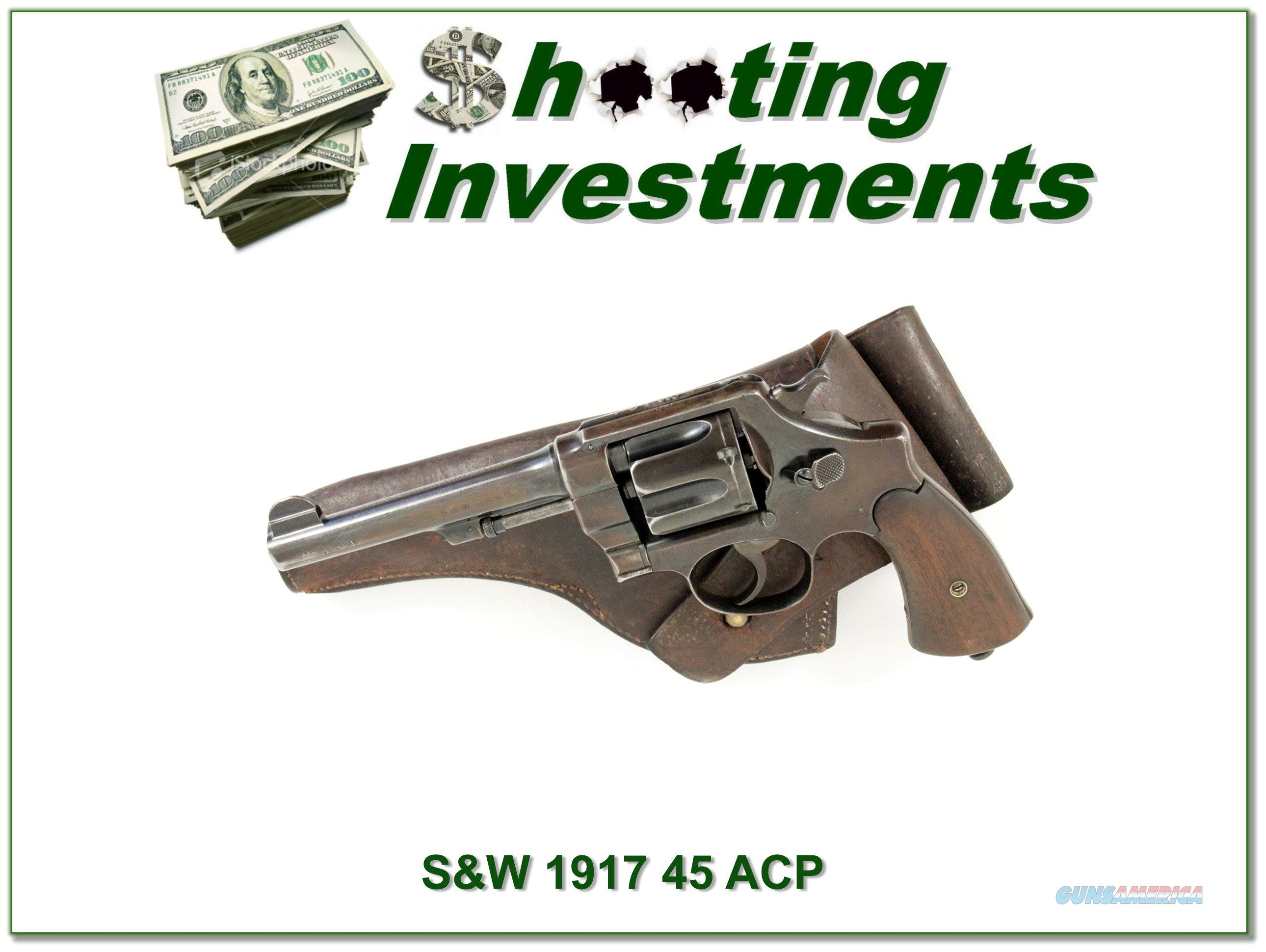Smith & Wesson Model 1917 in 45 ACP  Guns > Pistols > Smith & Wesson Revolvers > Full Frame Revolver