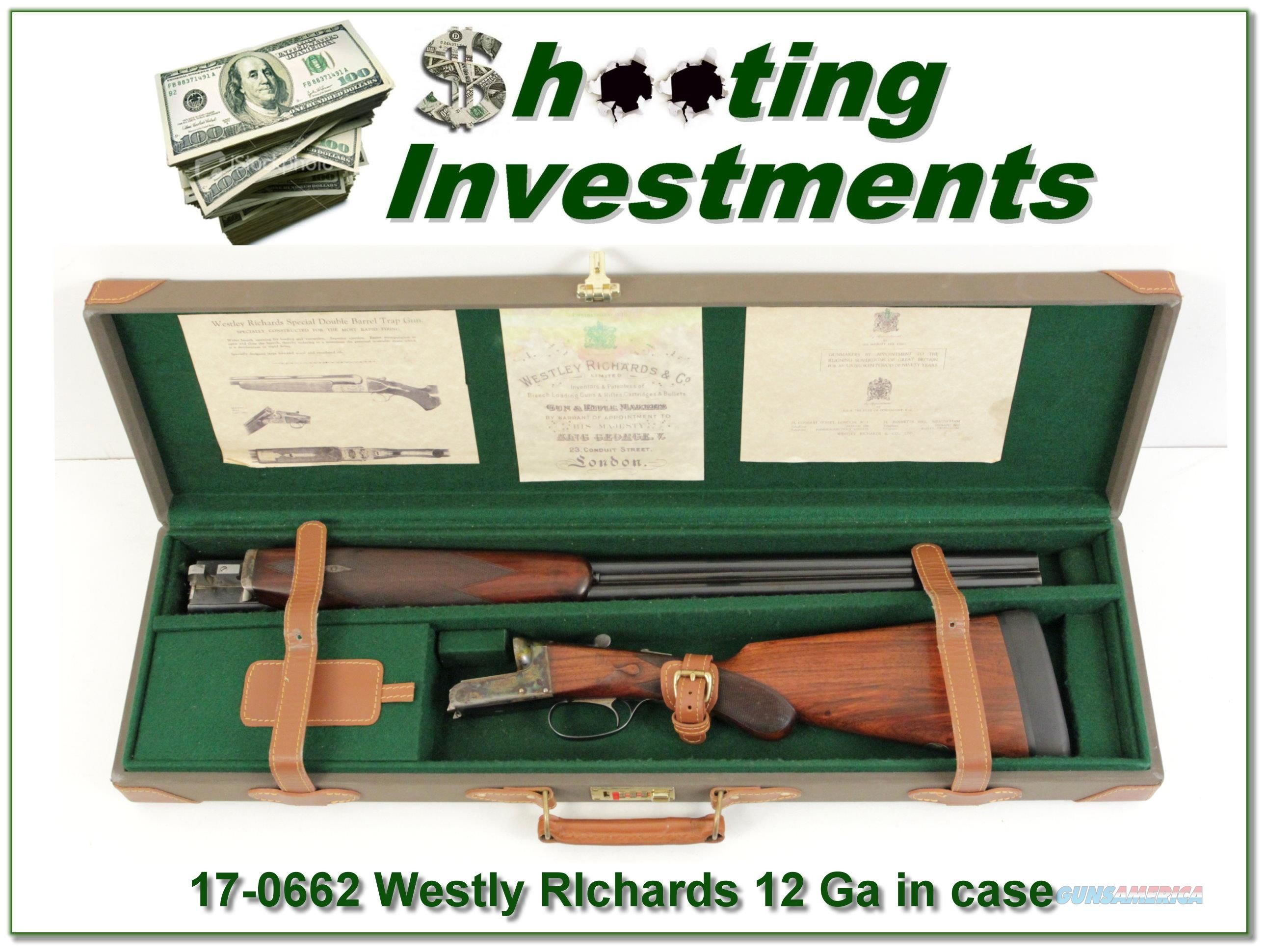 Westley Richards 12 Gauge Exc Cond in case  Guns > Shotguns > Westley Richards Shotguns