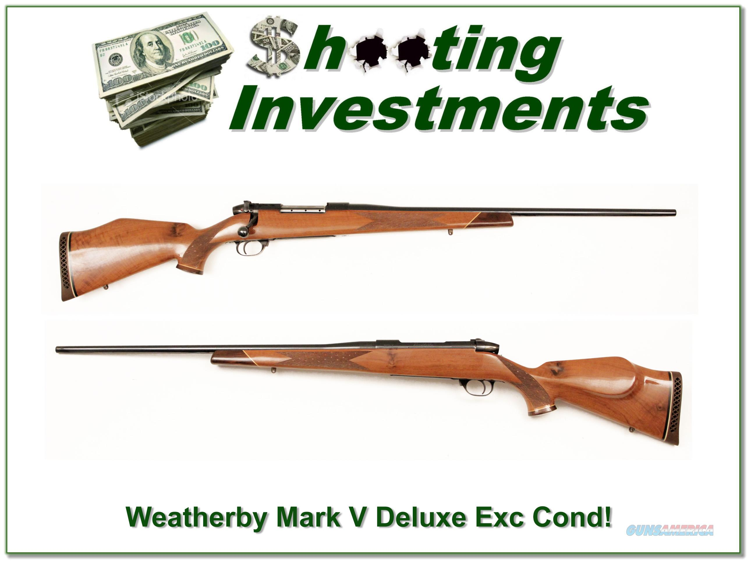 Weatherby Mark V Deluxe 300 Wth Mag near new!  Guns > Rifles > Weatherby Rifles > Sporting