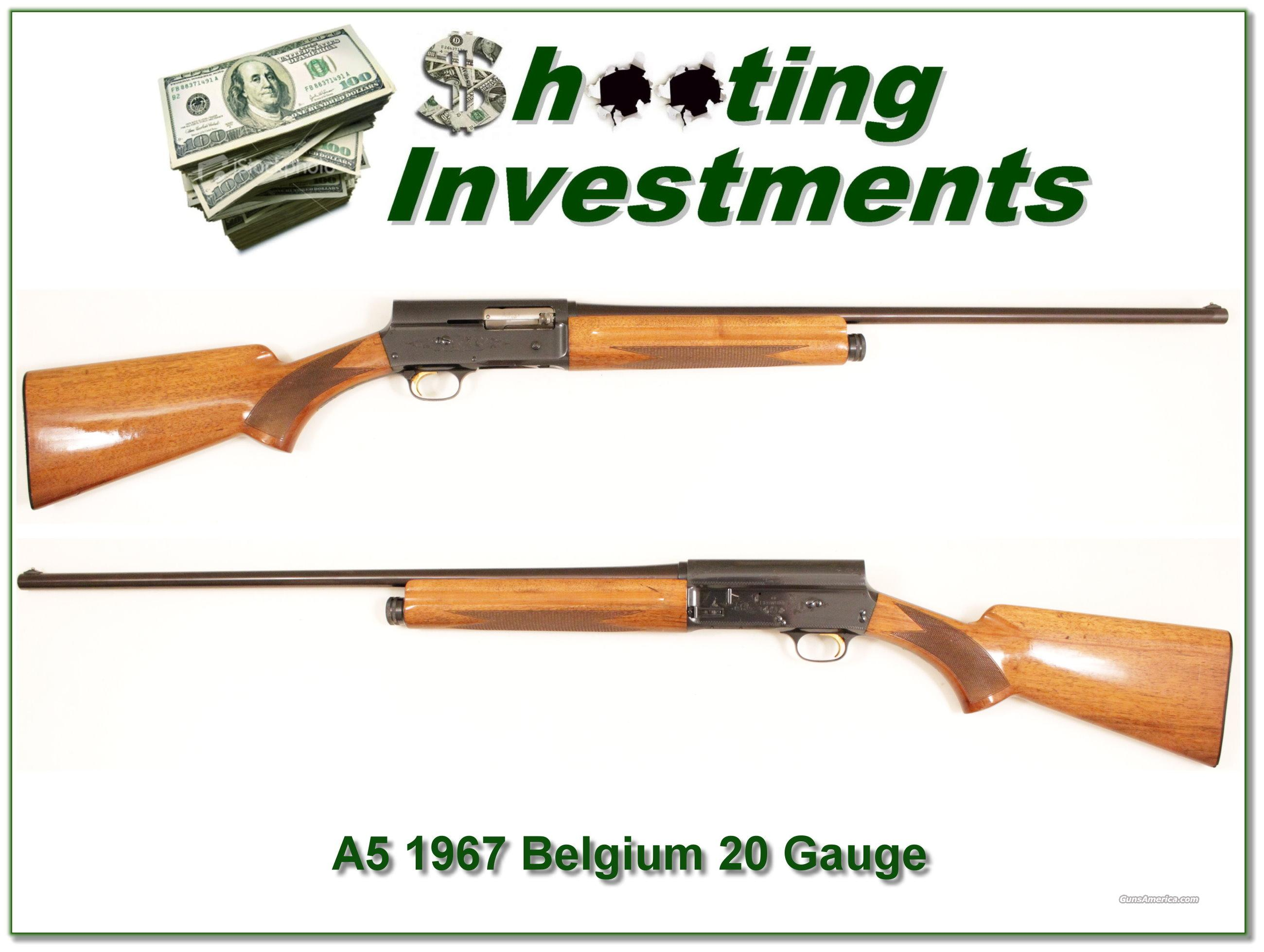 Browning A5 20 Gauge '67 Belgium  Guns > Shotguns > Browning Shotguns > Autoloaders > Hunting