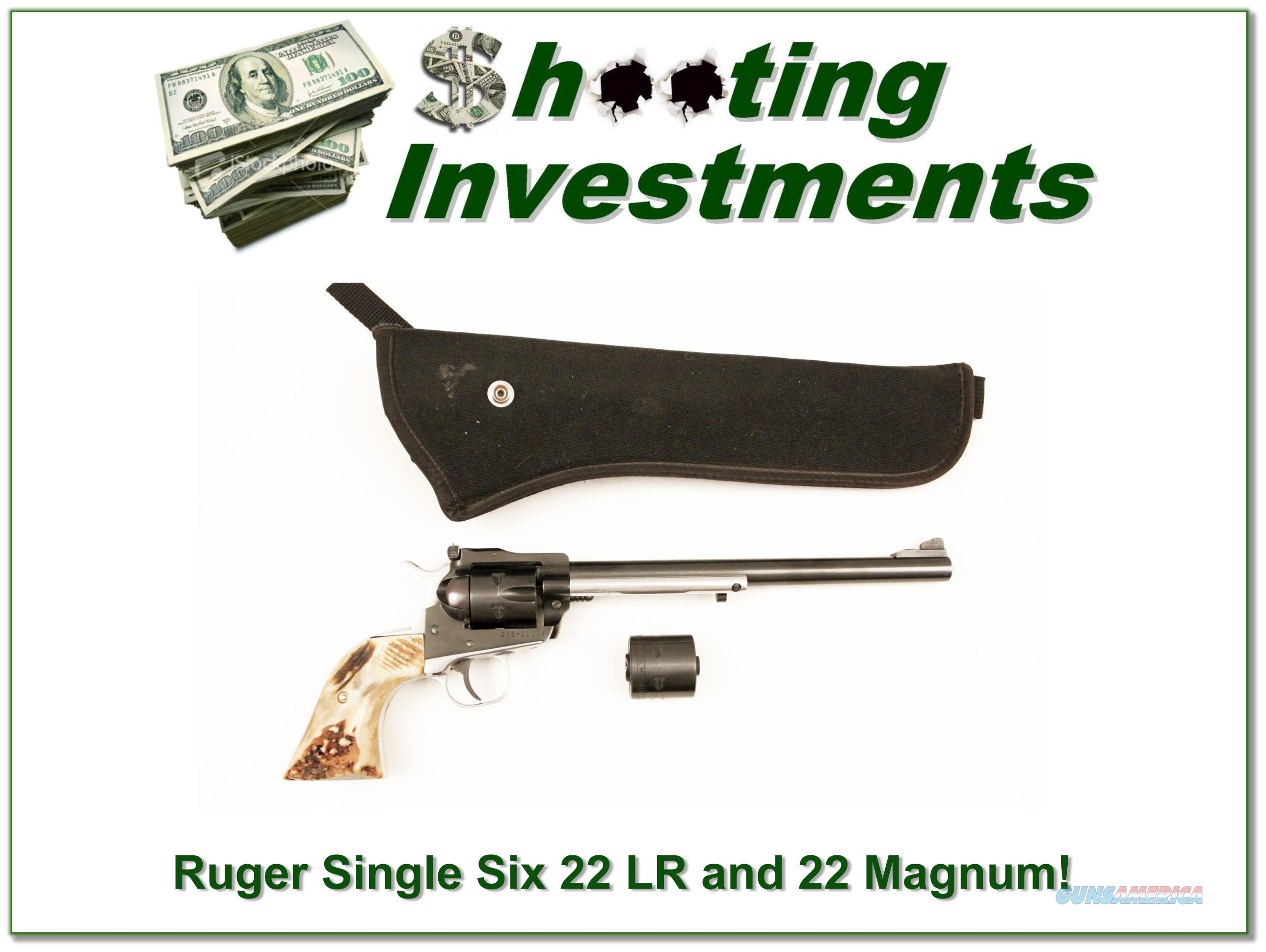 Ruger Single Six 9.5 in 22LR and 22 Magnum cylinders  Guns > Pistols > Ruger Single Action Revolvers > Single Six Type