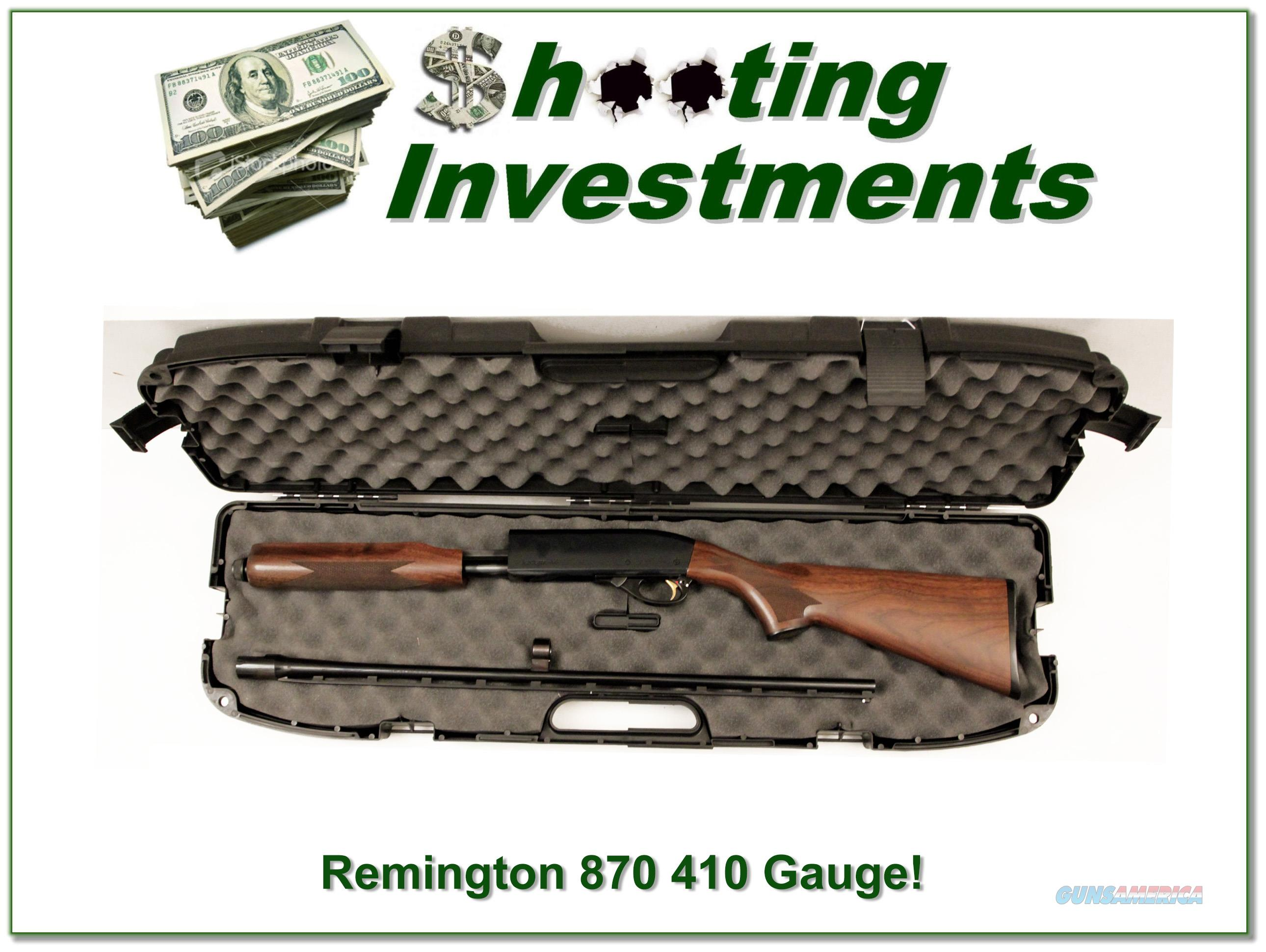 Remington 870 Wingmaster hard to find 410!  Guns > Shotguns > Remington Shotguns  > Pump > Hunting