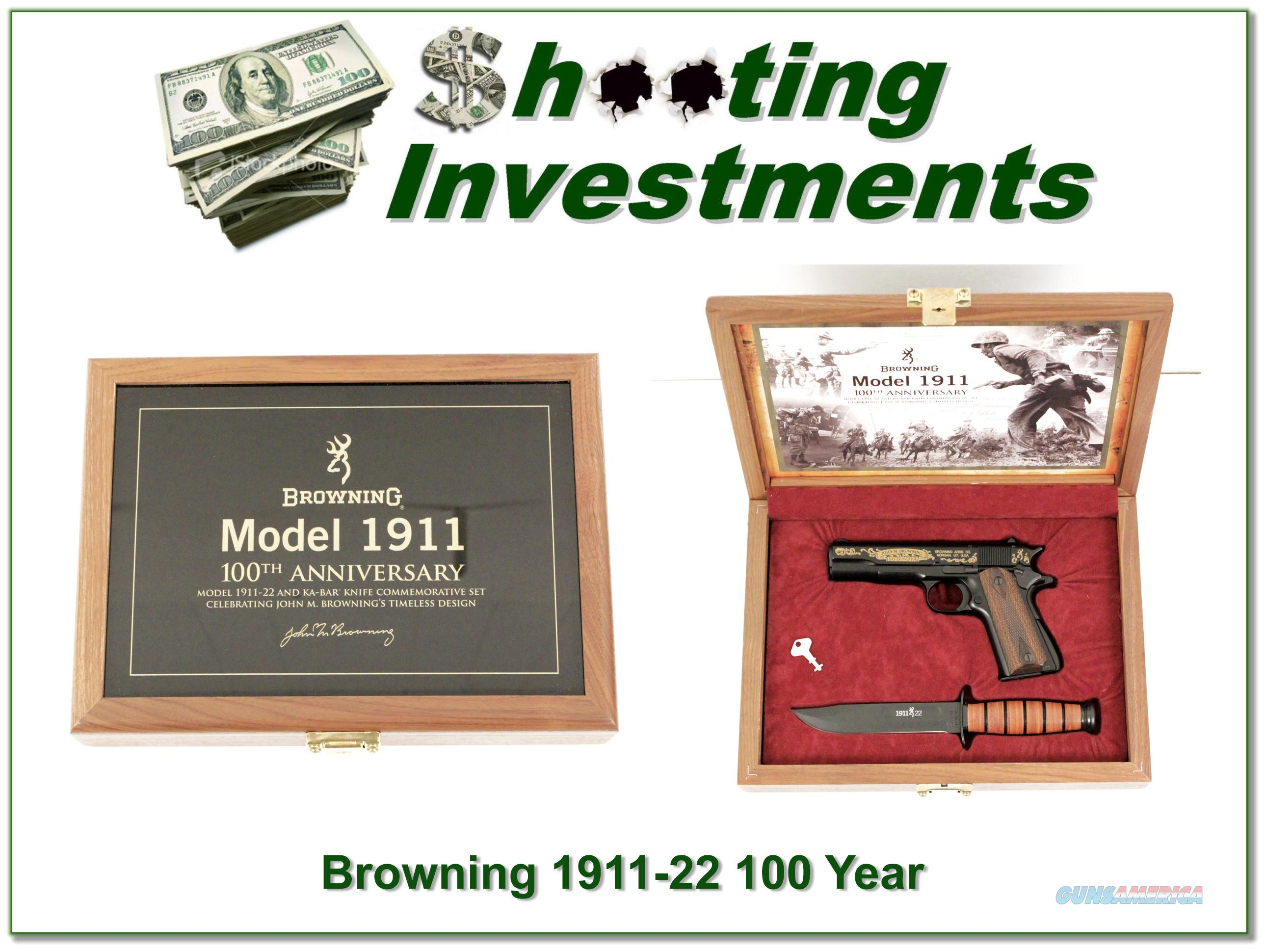 Browning 1911 -22 100th Anniversary w/ case New In Case!  Guns > Pistols > Browning Pistols > Other Autos