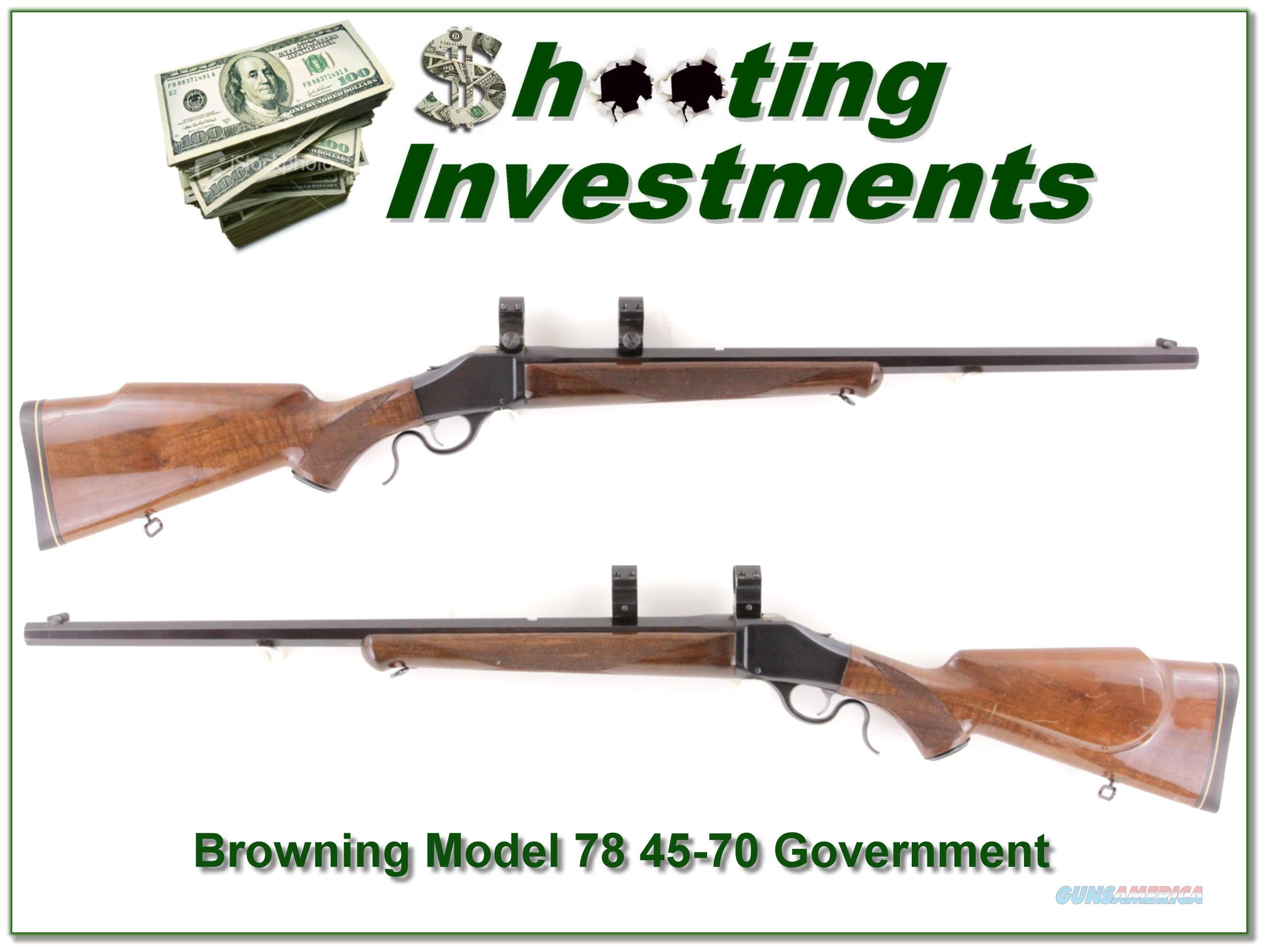 Browning Model 78 in 45-70 Government  Guns > Rifles > Browning Rifles > Single Shot