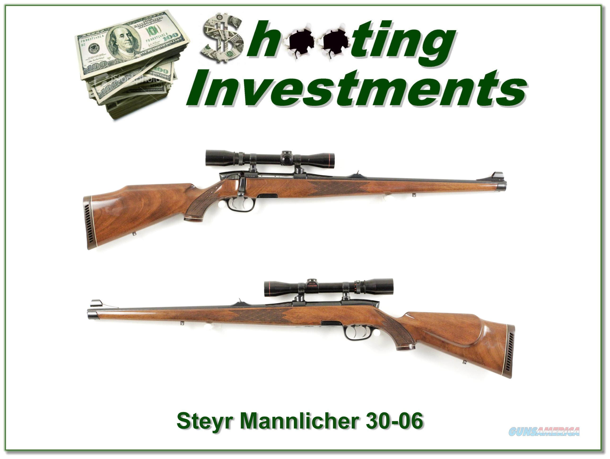 Steyr Mannlicher 30-06 Exc Cond with factory scope  Guns > Rifles > Steyr Rifles