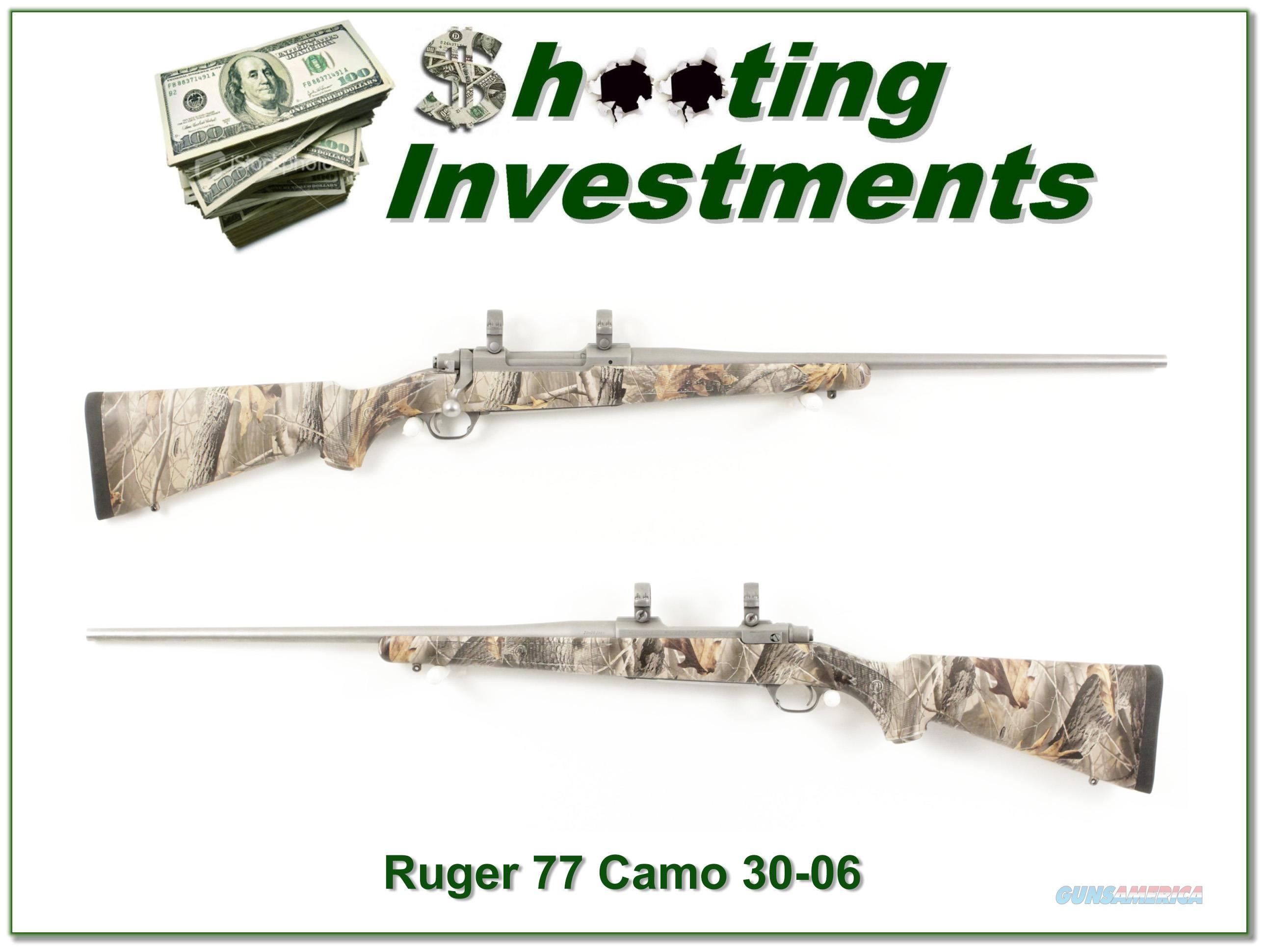 Ruger 77 Mark II Hawkeye Stainless Camo 30-06  Guns > Rifles > Ruger Rifles > Model 77
