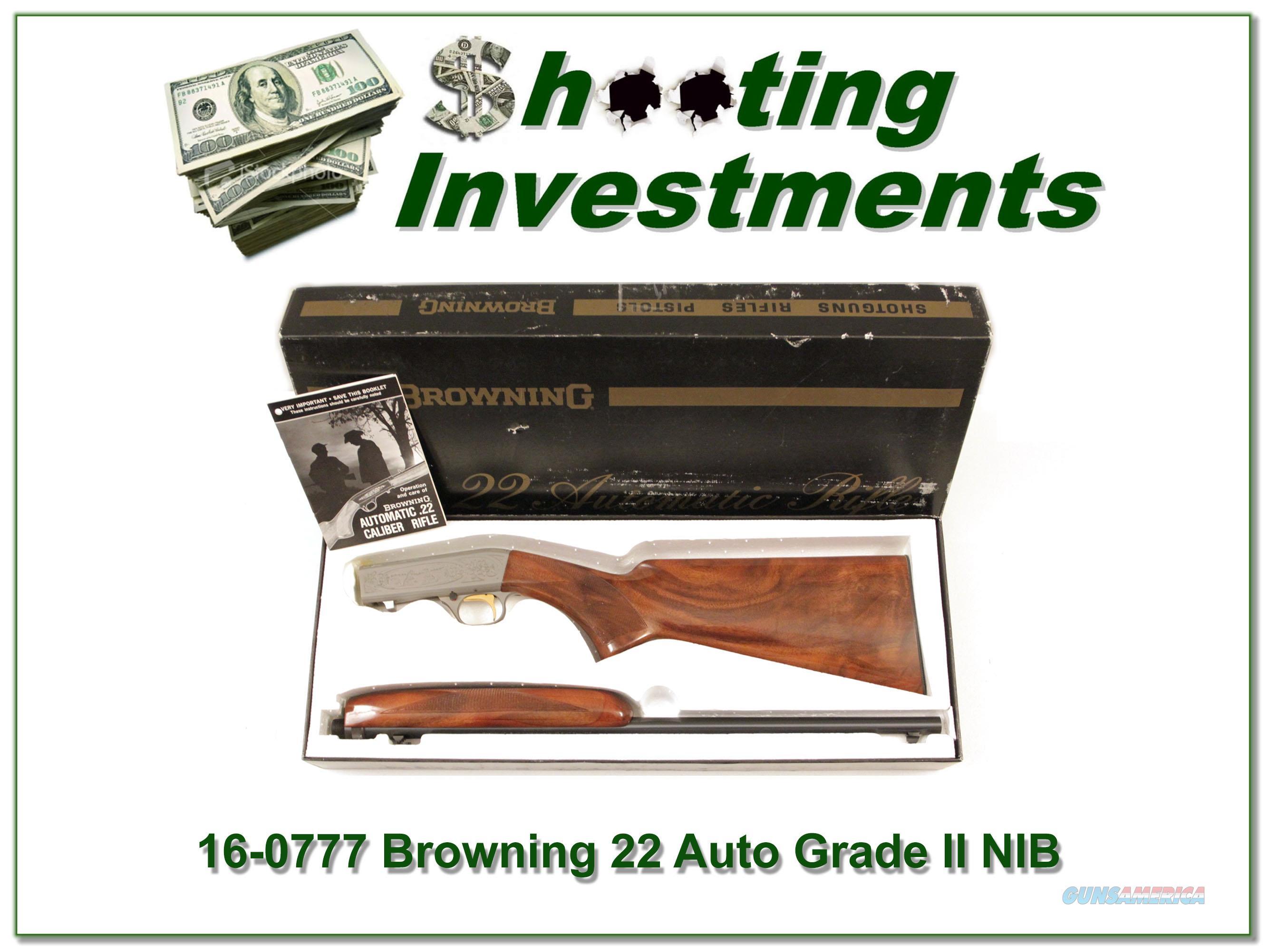 Browning 22 auto grade ii hand engraved nib guns gt rifles gt browning