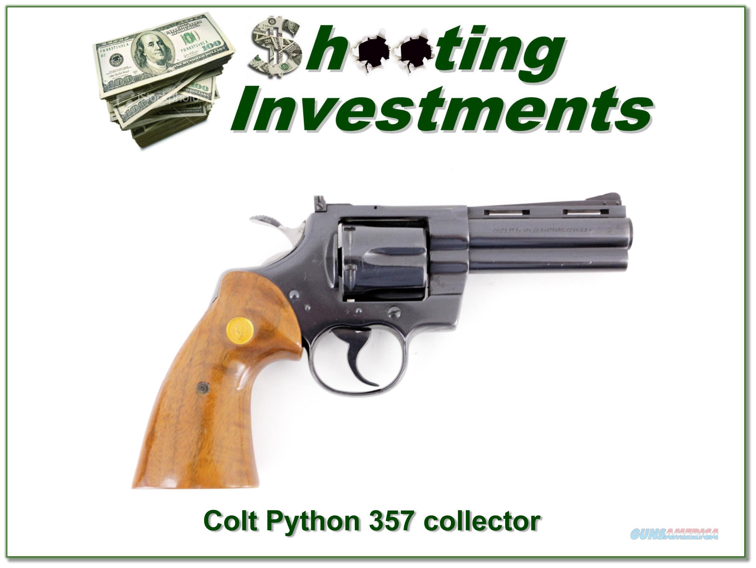 Colt Python 1976 made 357 4in Blued  Guns > Pistols > Colt Double Action Revolvers- Modern