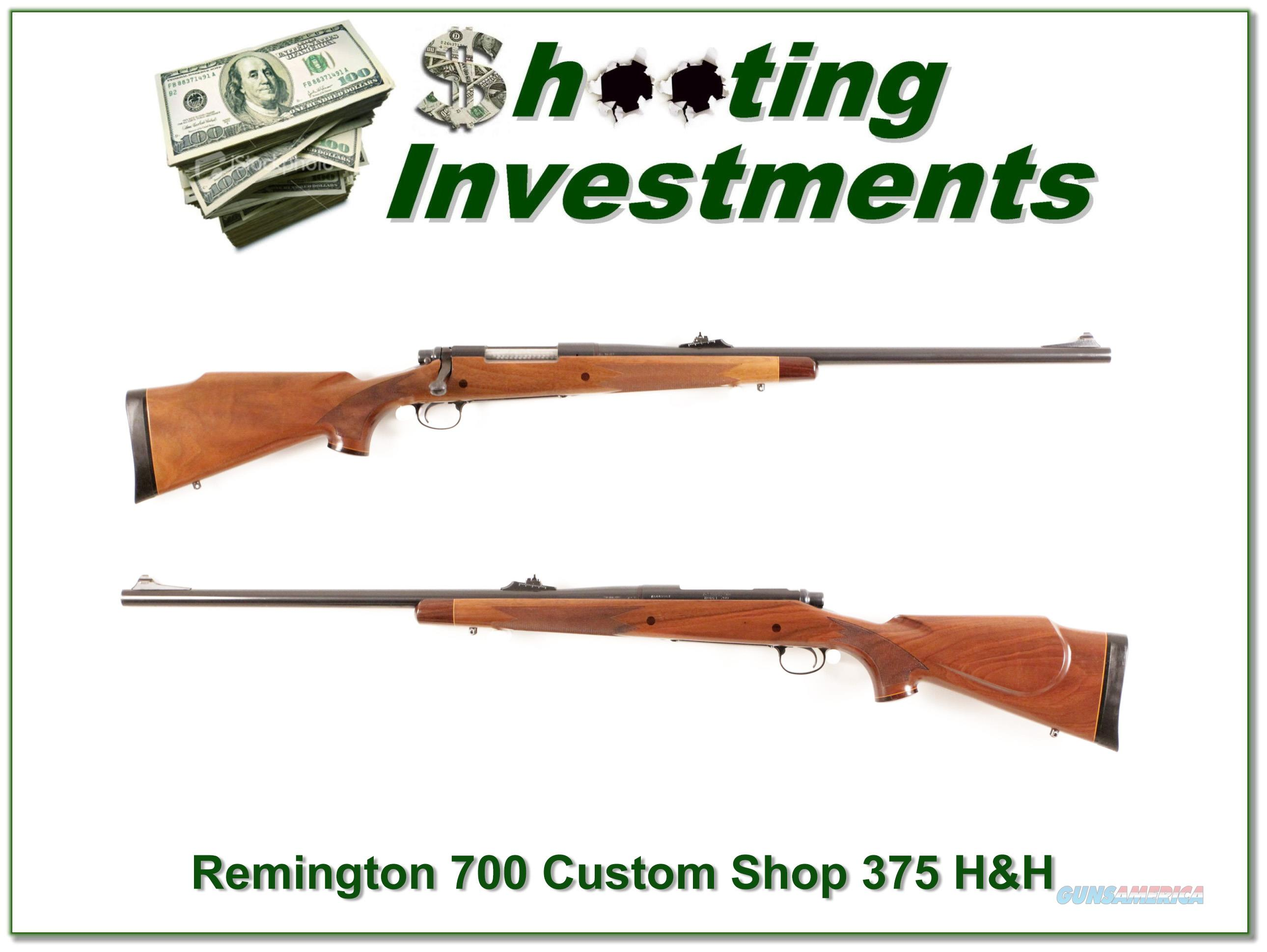 Remington 700 Custom Shop 375 H&H Mag nice!  Guns > Rifles > Remington Rifles - Modern > Model 700 > Sporting