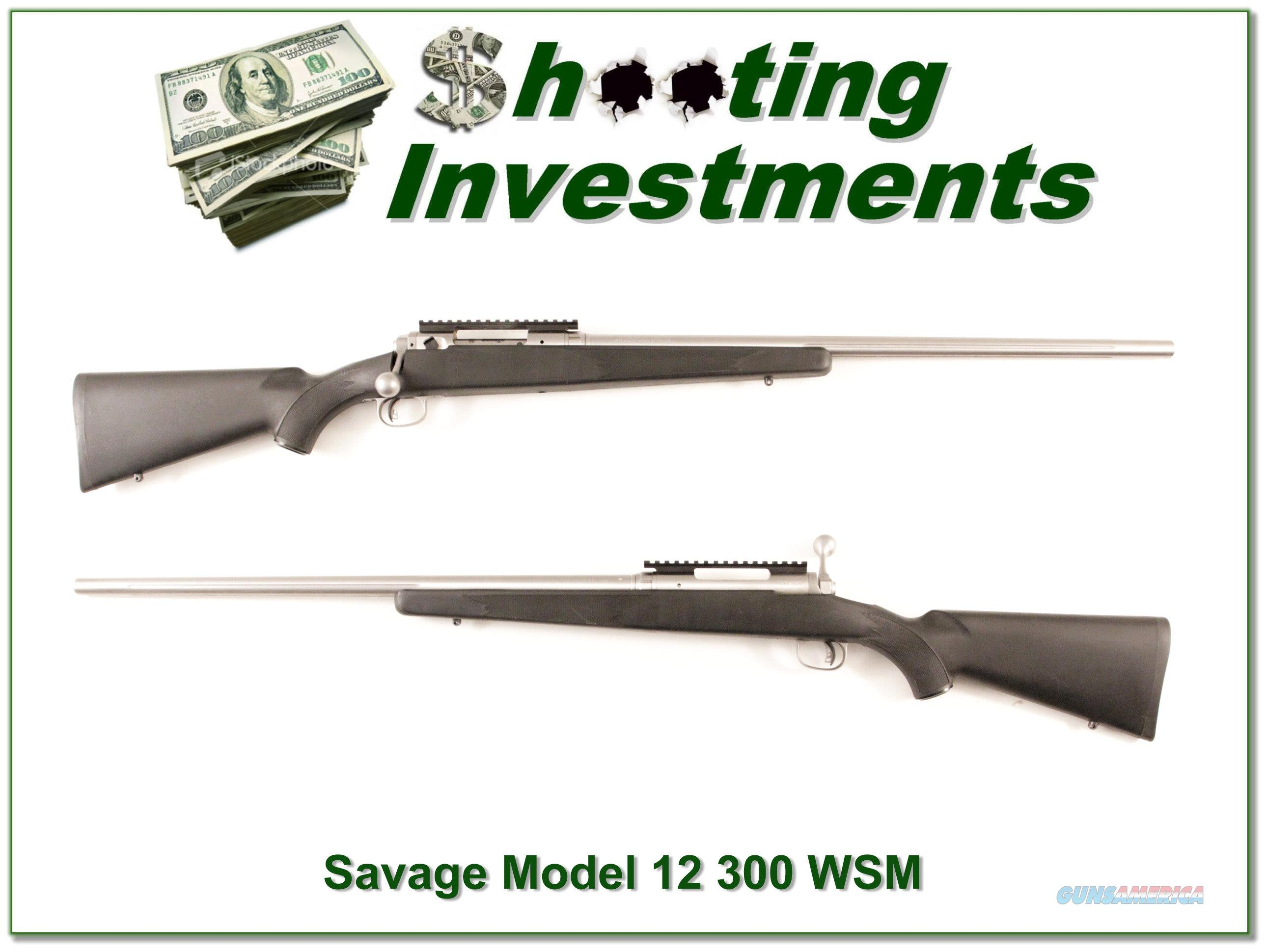 Savage Model 12 Stainless Fluted HB in 300 WSM  Guns > Rifles > Savage Rifles > 12/112