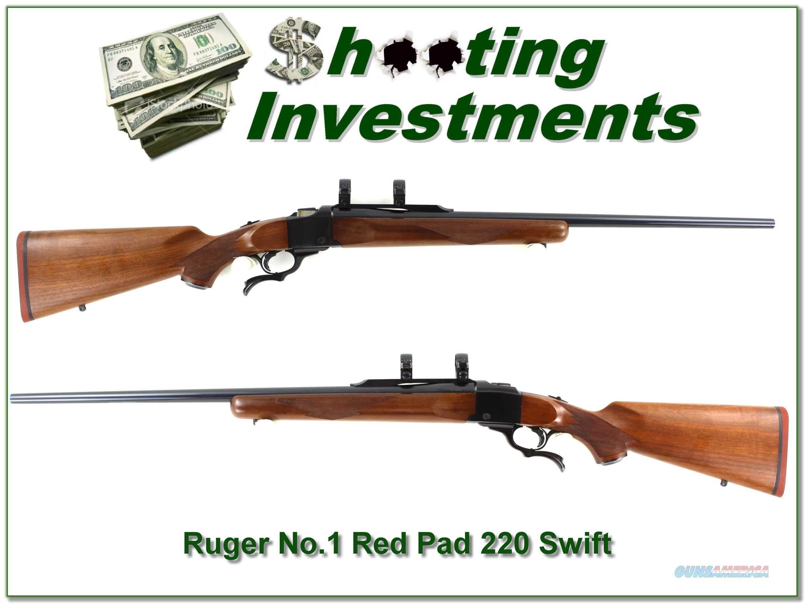 Ruger No.1 B 26in Red Pad in hard to find 220 Swift!  Guns > Rifles > Ruger Rifles > #1 Type