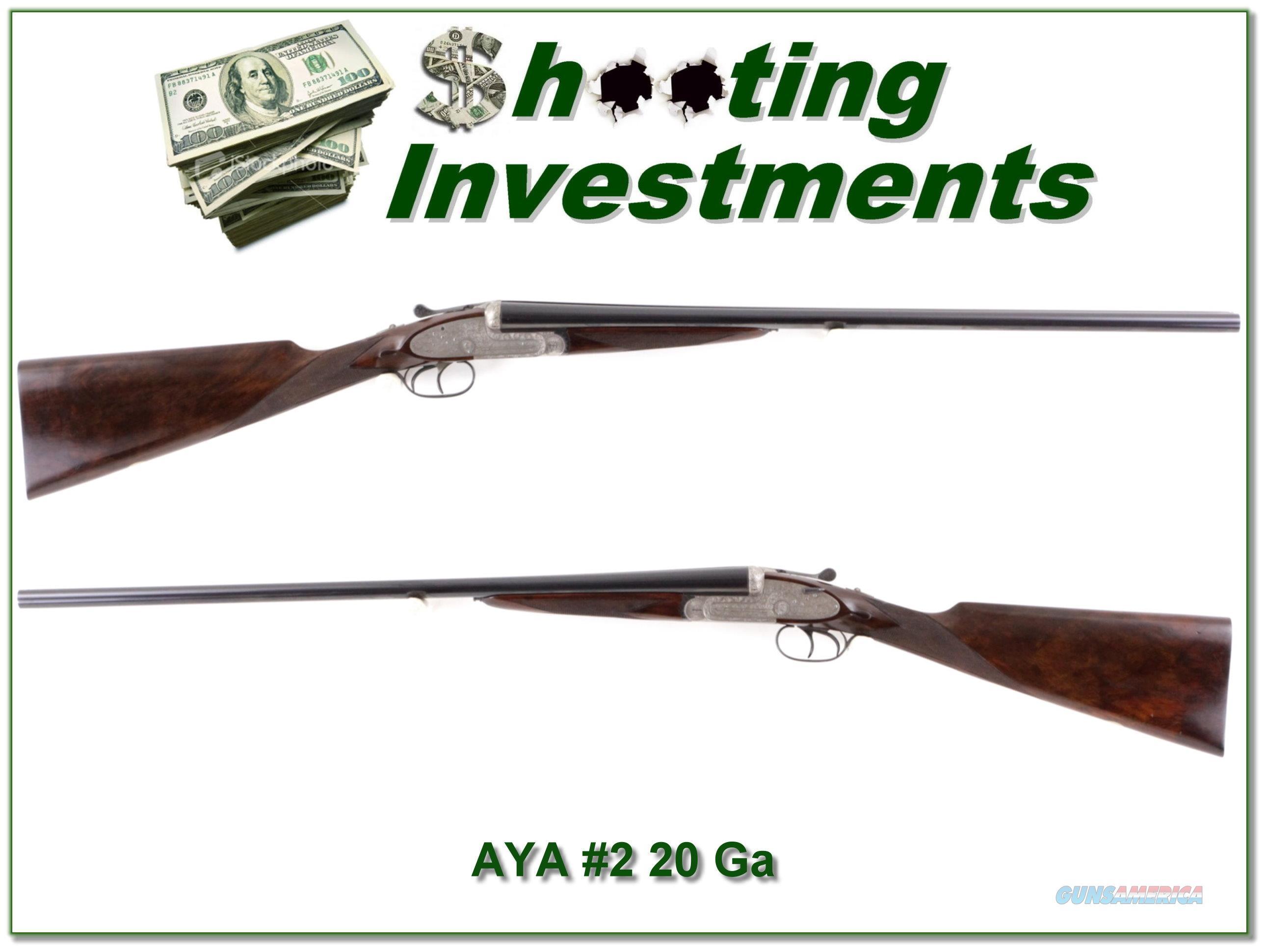 AYA No.2 20 Gauge 26in Exc Cond Serial Number 3  Guns > Shotguns > AYA Shotguns