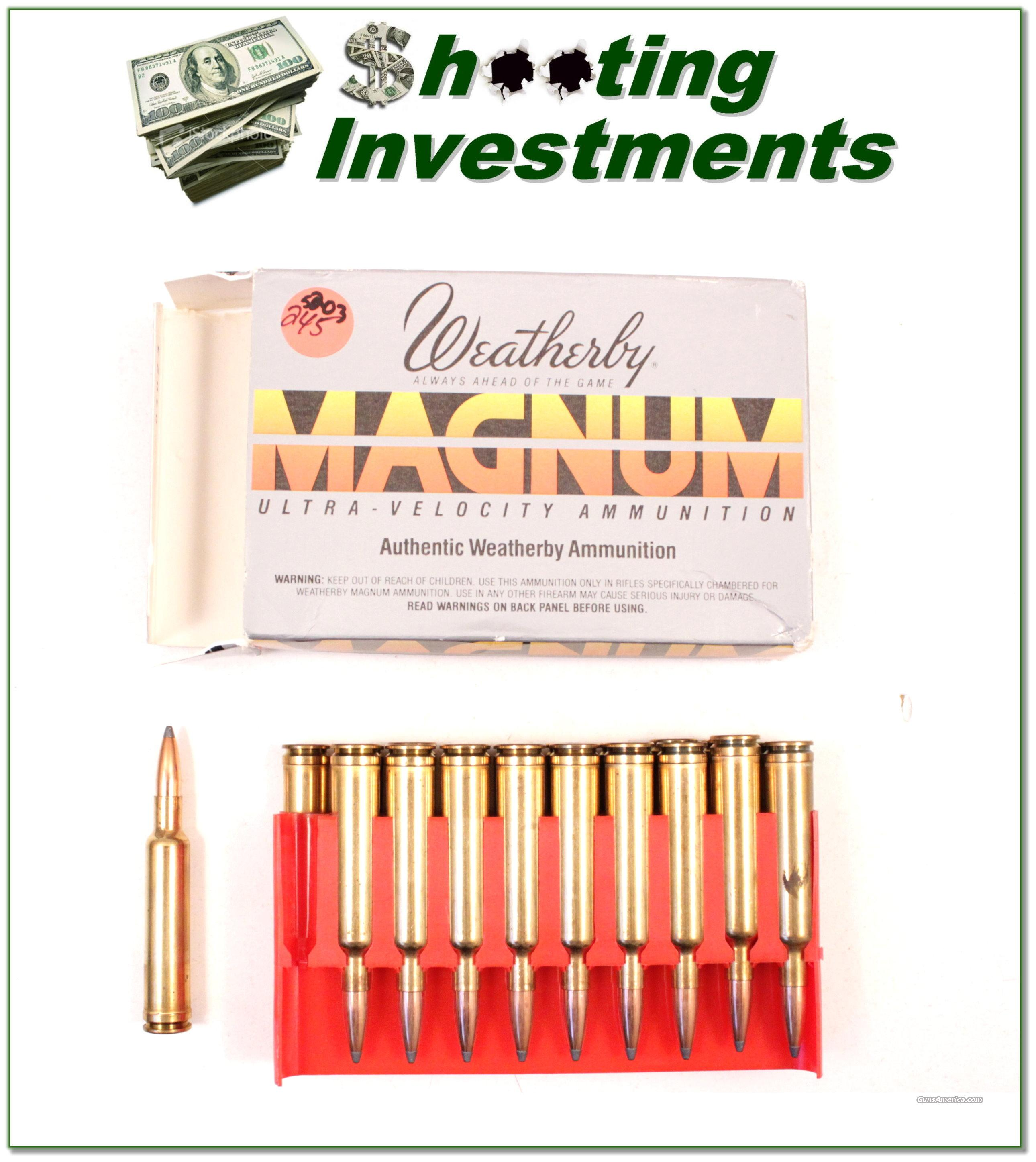 Weatherby 7mm Weatherby Magnum box of 20 ammo  Non-Guns > Ammunition
