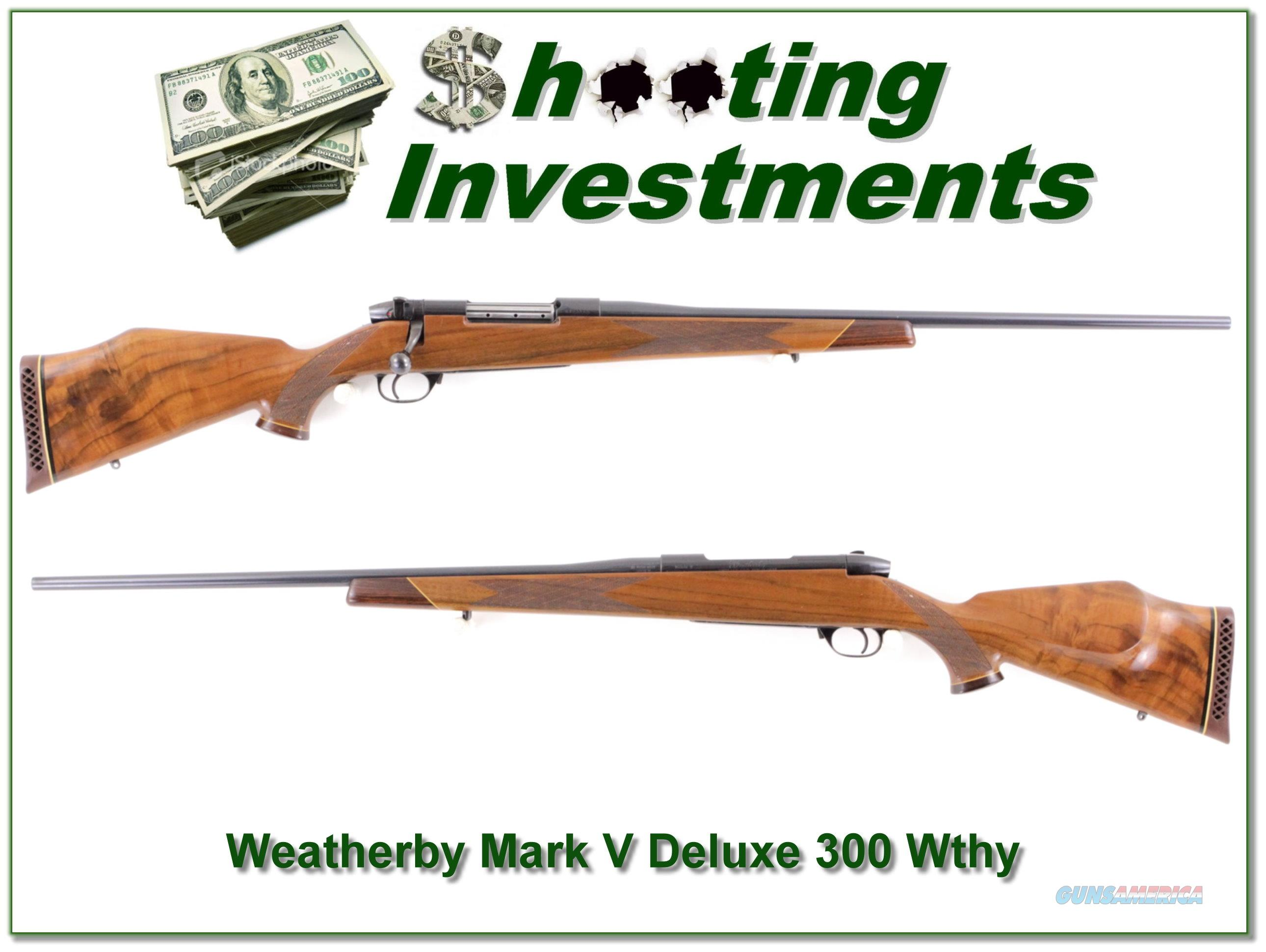 Weatherby Mark V Deluxe 300 Wthy Mag  Guns > Rifles > Weatherby Rifles > Sporting