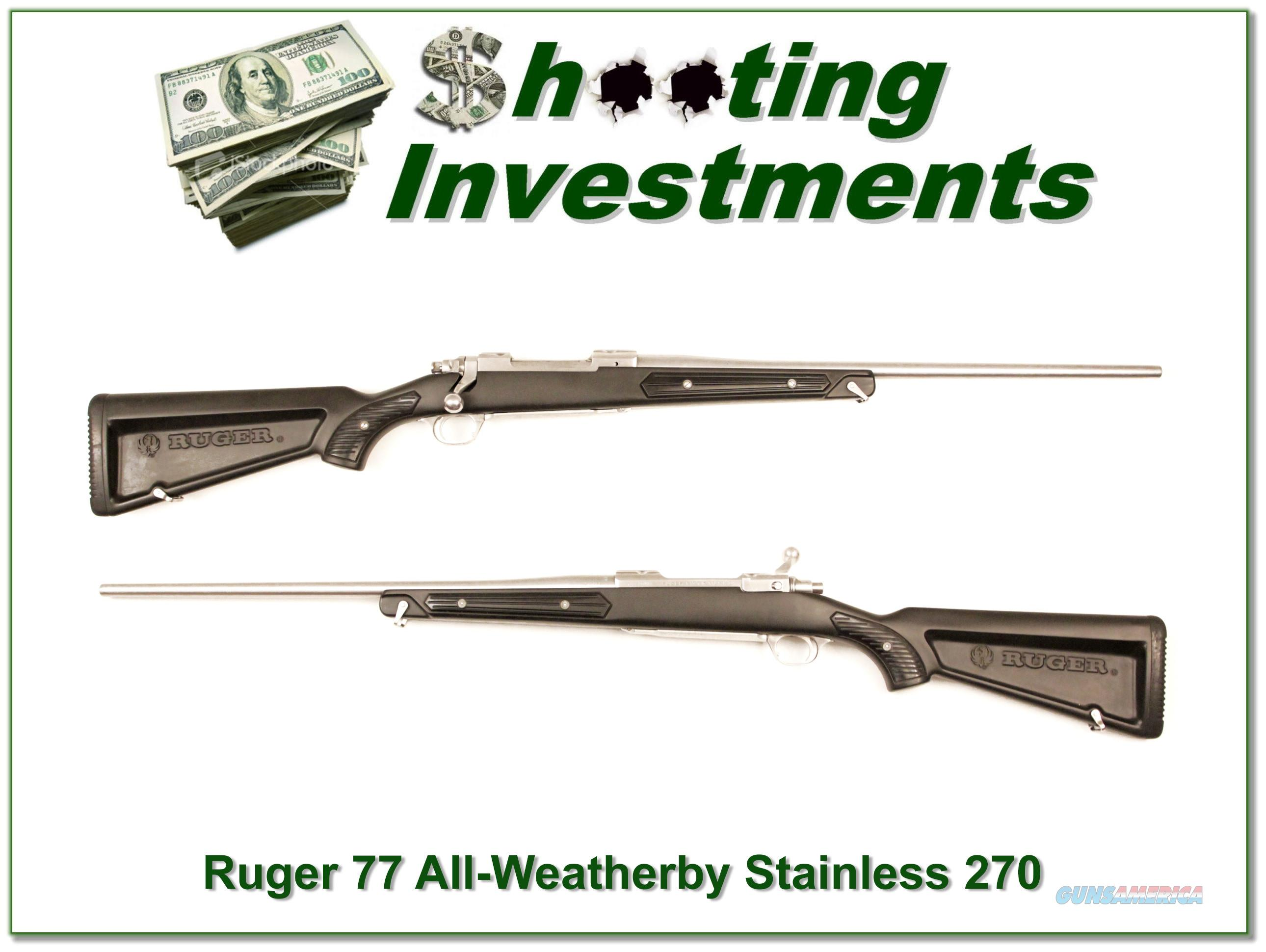 Ruger Mark II Stainless Skeleton 270 Winchester  Guns > Rifles > Ruger Rifles > American