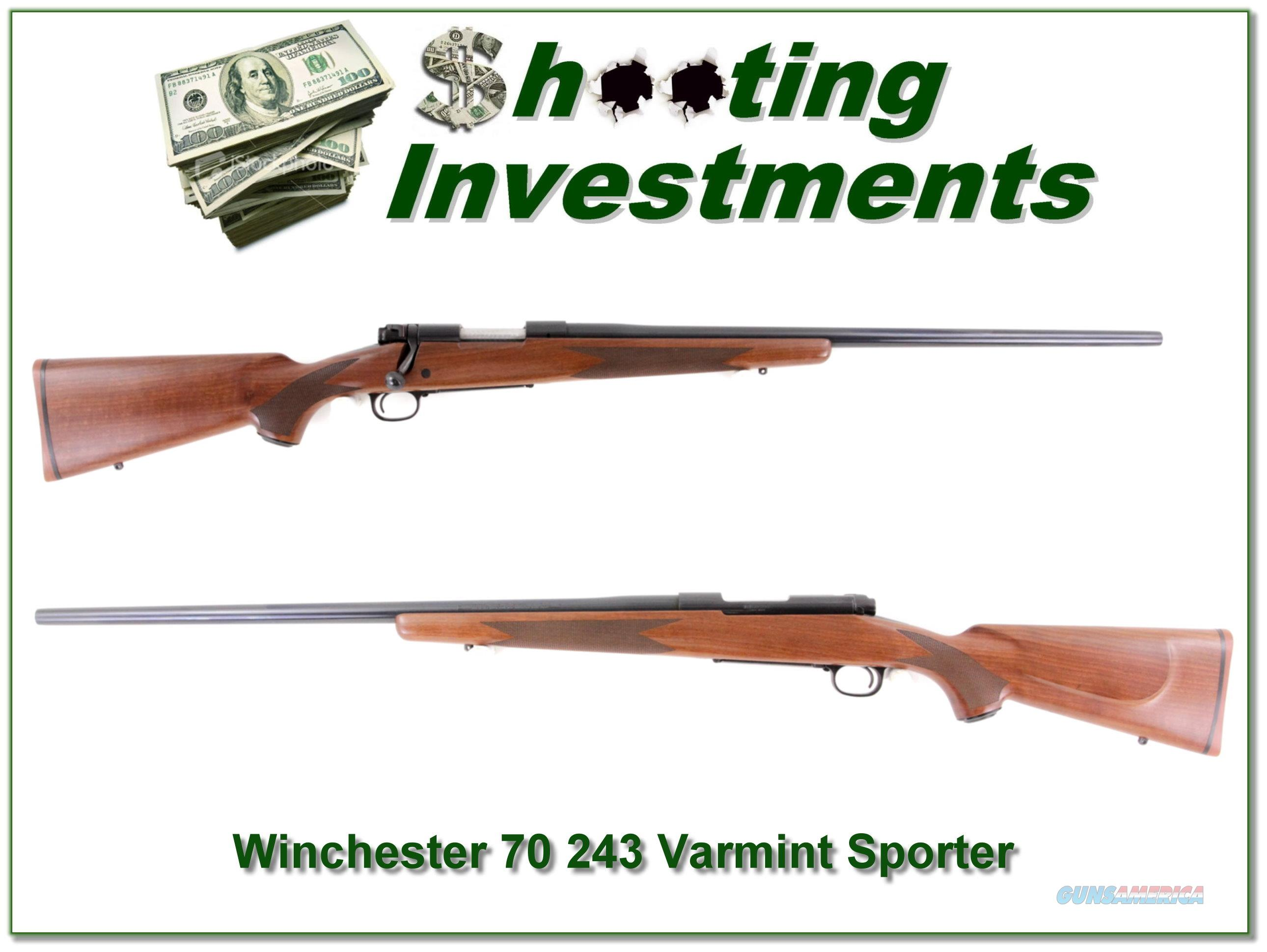 Winchester 70 243 Varmint Sporter near new!  Guns > Rifles > Winchester Rifles - Modern Bolt/Auto/Single > Model 70 > Post-64