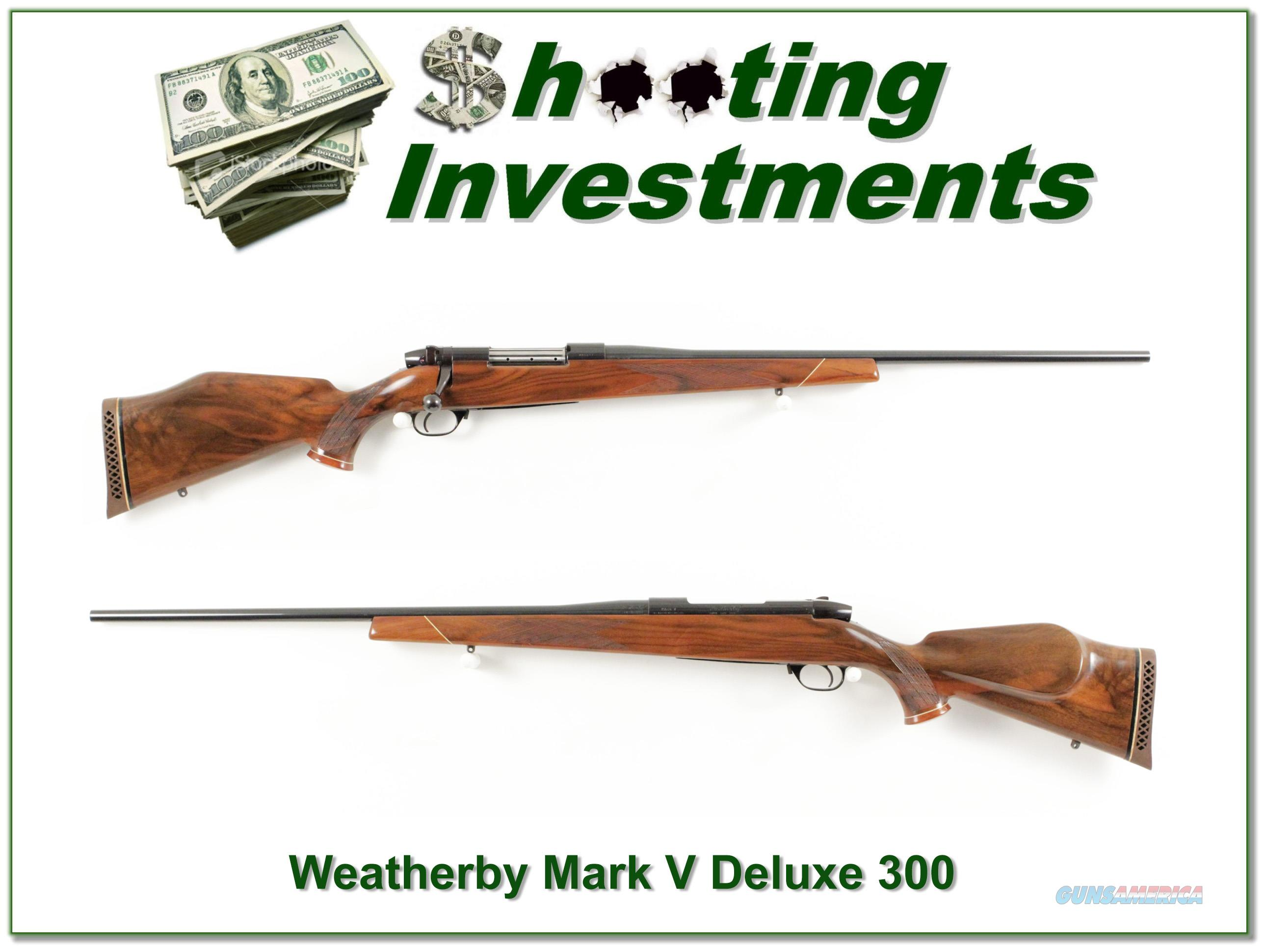 Weatherby Mark V Deluxe 300 Wthy Mag!  Guns > Rifles > Weatherby Rifles > Sporting