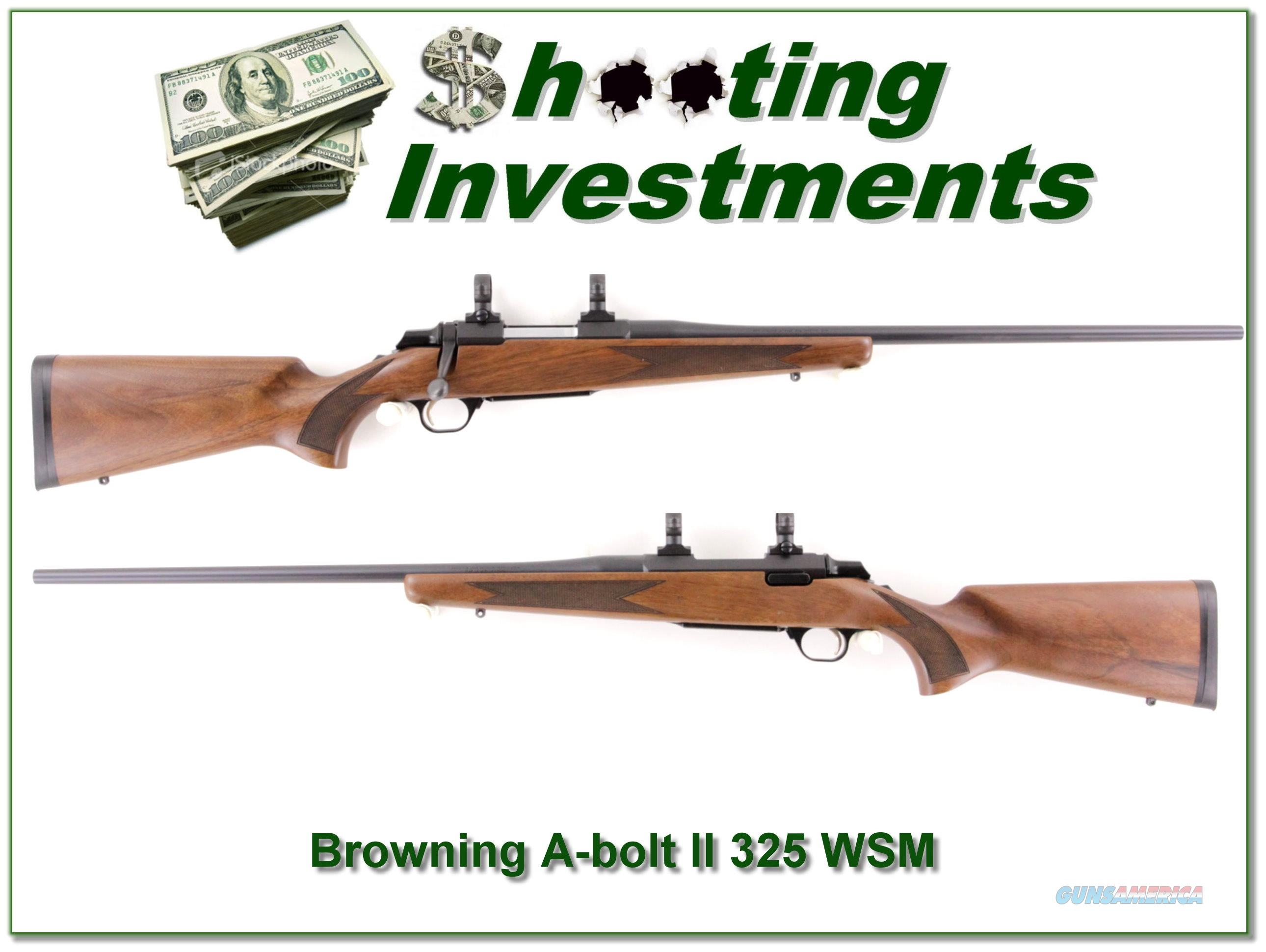Browning A-Bolt II in 325 WSN Exc Cond  Guns > Rifles > Browning Rifles > Bolt Action > Hunting > Blue