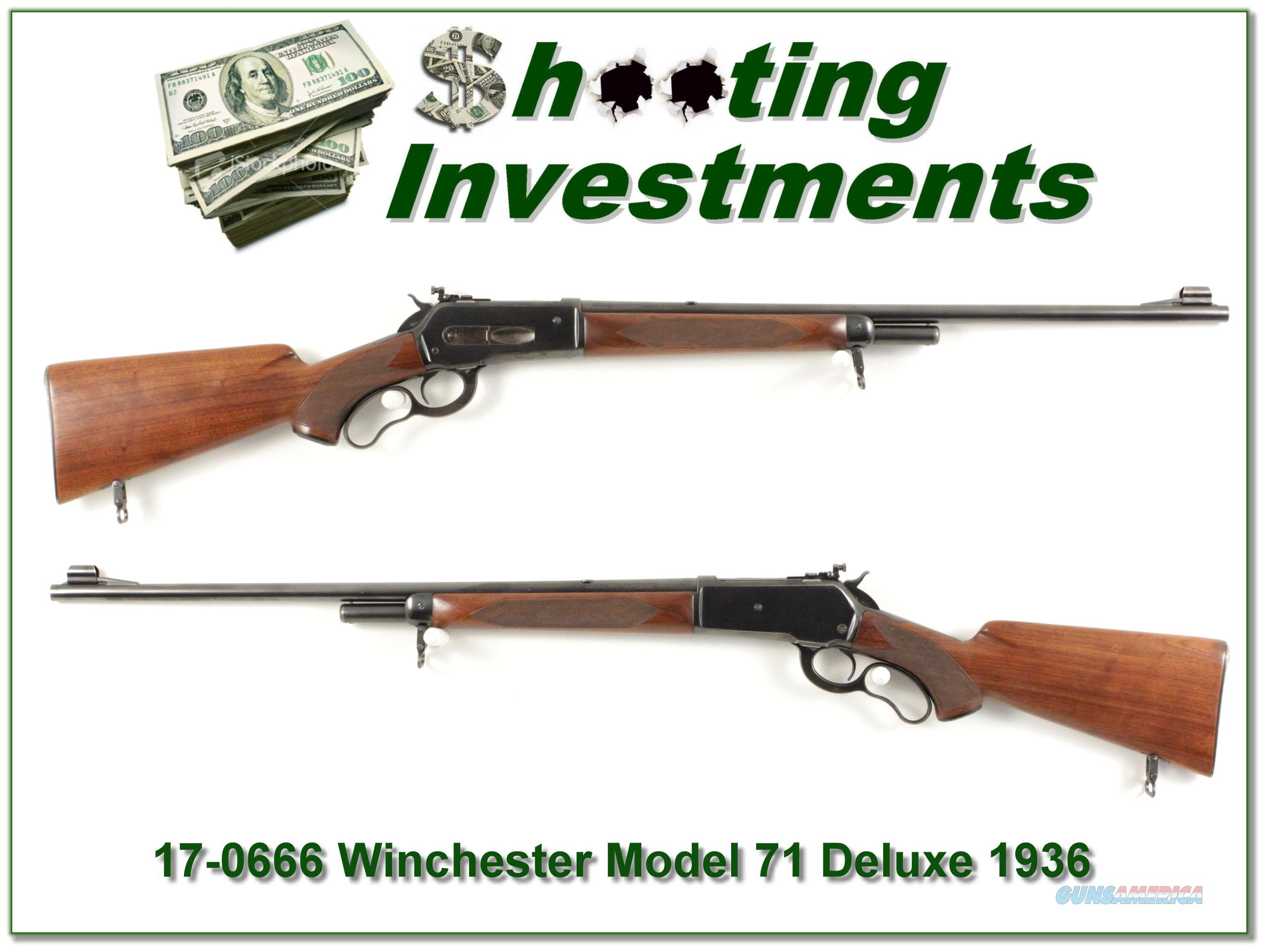 First Year 1936 Winchester Model 71 Deluxe 348 Win  Guns > Rifles > Winchester Rifles - Modern Lever > Other Lever > Pre-64