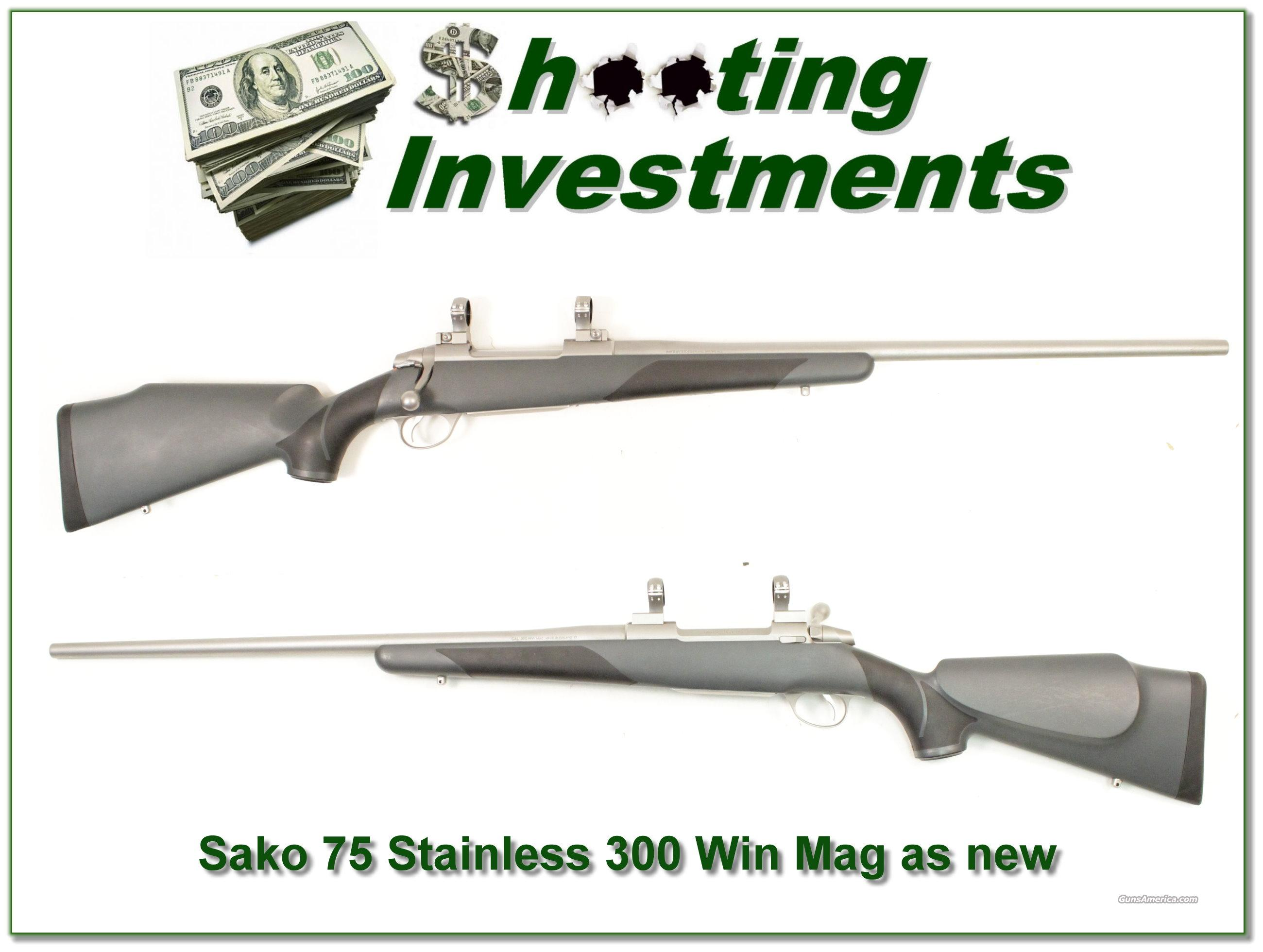 Sako 75 Finnbear Stainless Steel 300 Win Mag  Guns > Rifles > Browning Rifles > Semi Auto > Hunting
