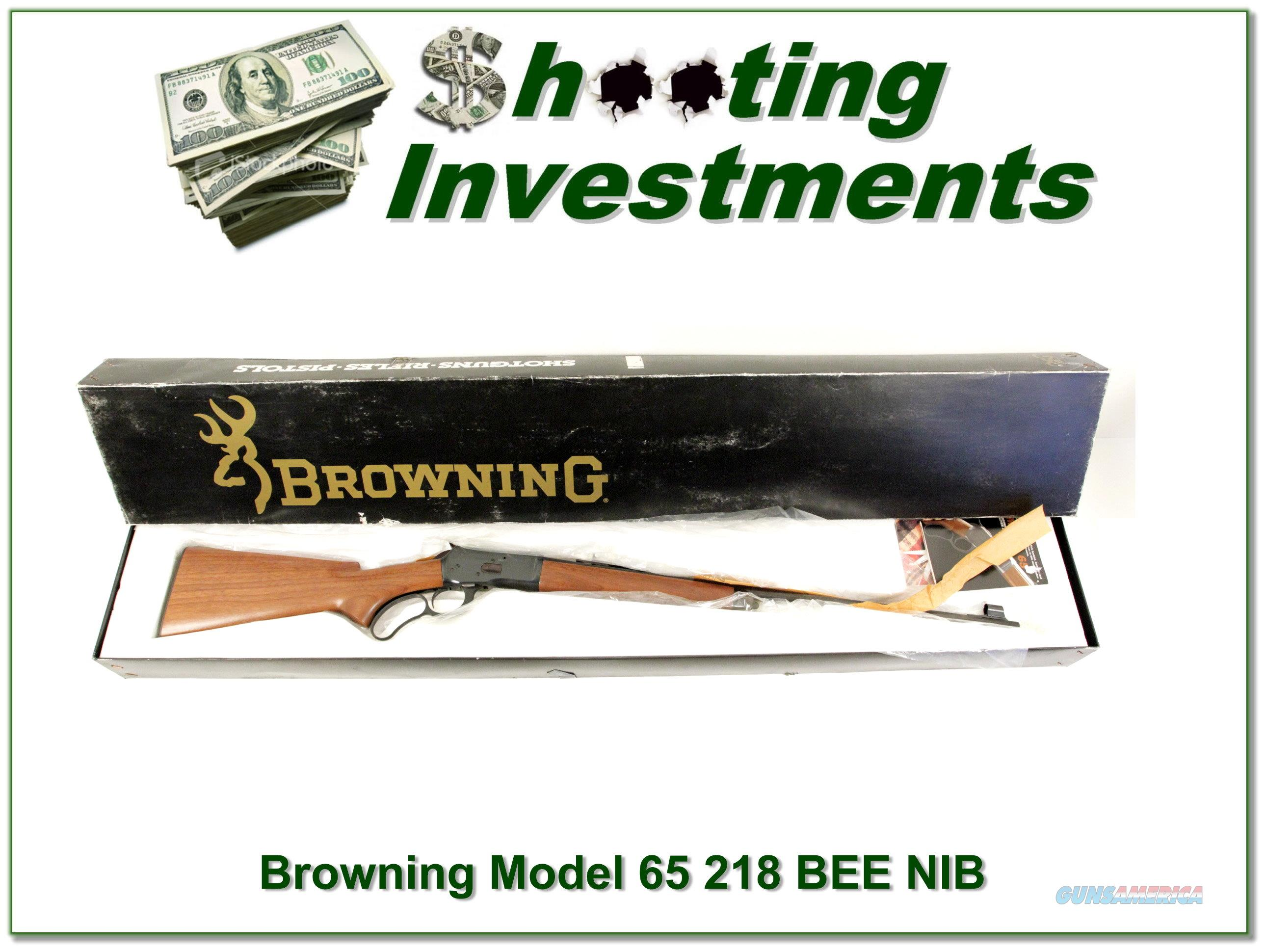 Browning Model 65 new and unfired in Box 218 Bee!  Guns > Rifles > Browning Rifles > Lever Action