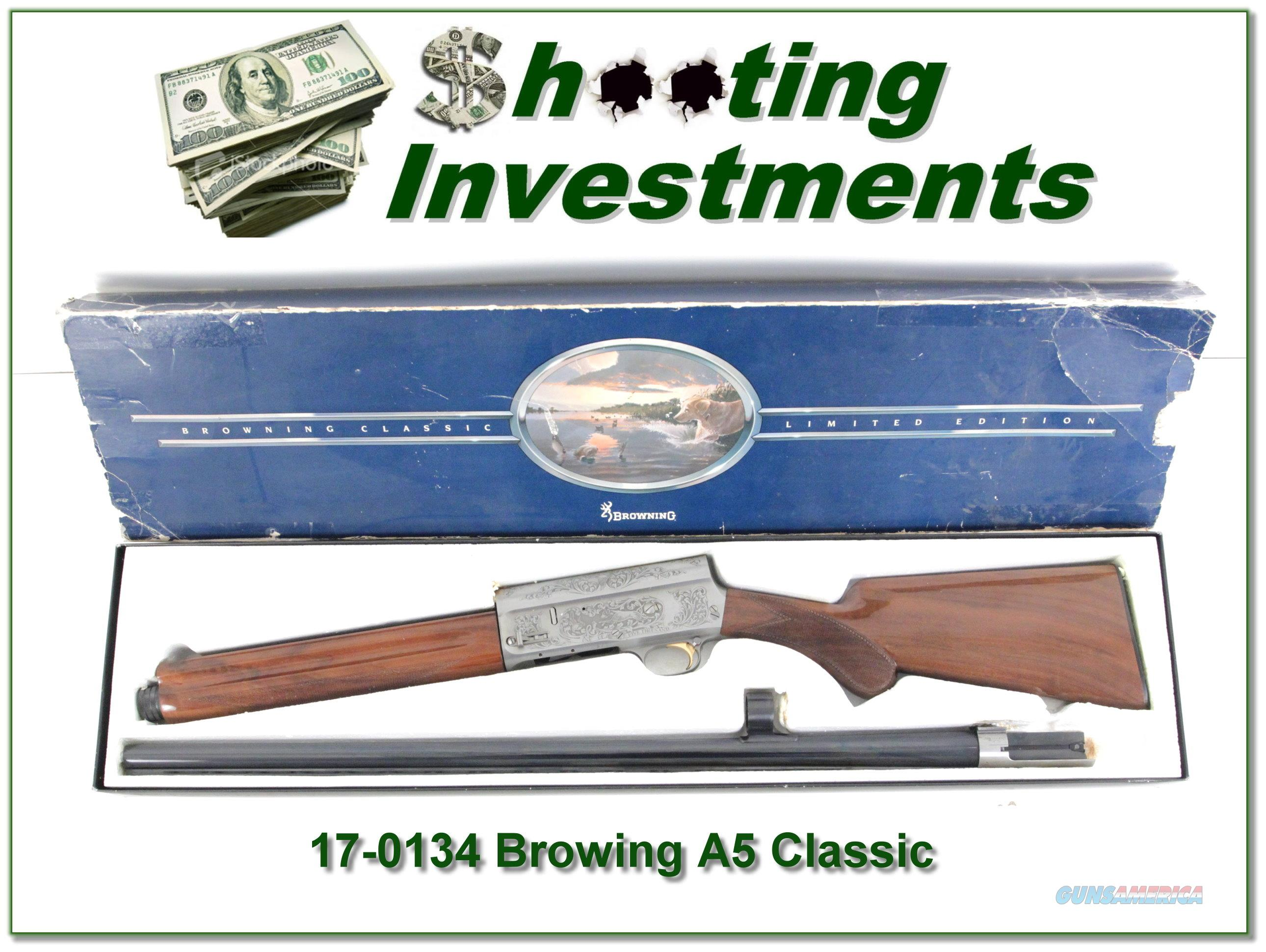 Browning A5 Classic Belgium as new in box!  Guns > Shotguns > Browning Shotguns > Autoloaders > Hunting