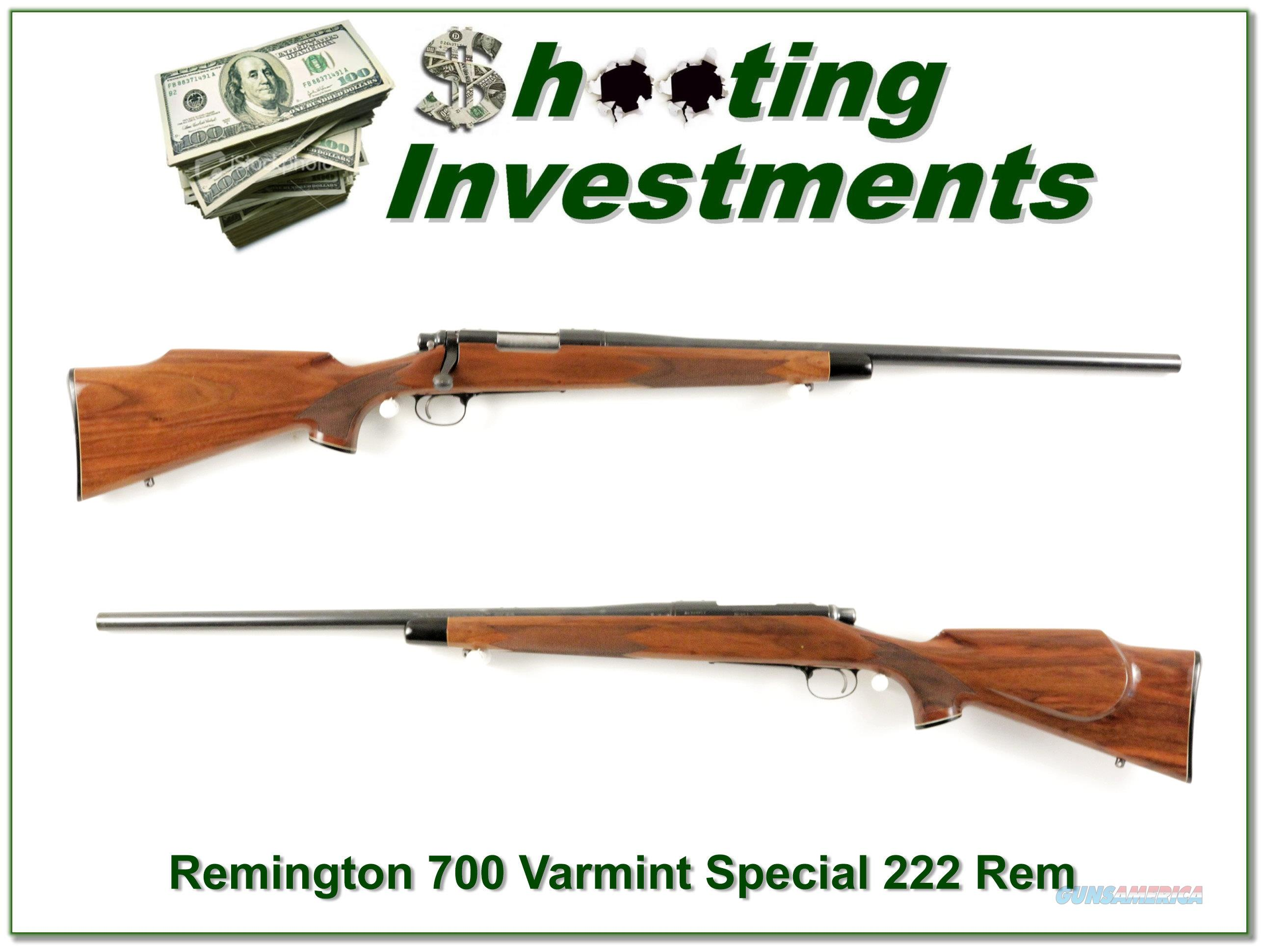 Remington 700 BDL Varmint Special 222 Rem  Guns > Rifles > Remington Rifles - Modern > Model 700 > Sporting