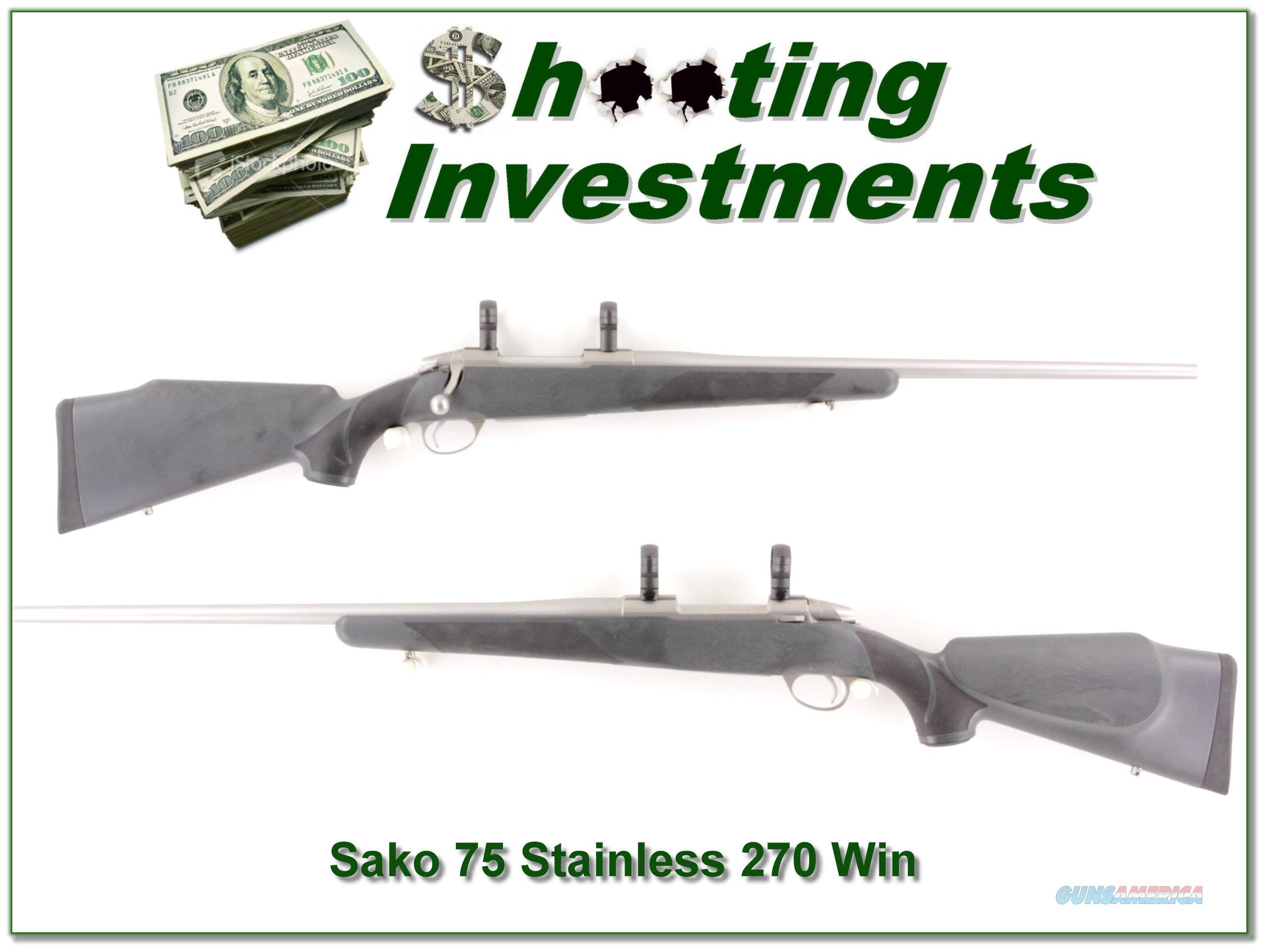 Sako 75 All-Weather Stainless 270 Win Exc Cond  Guns > Rifles > Sako Rifles > M75 Series