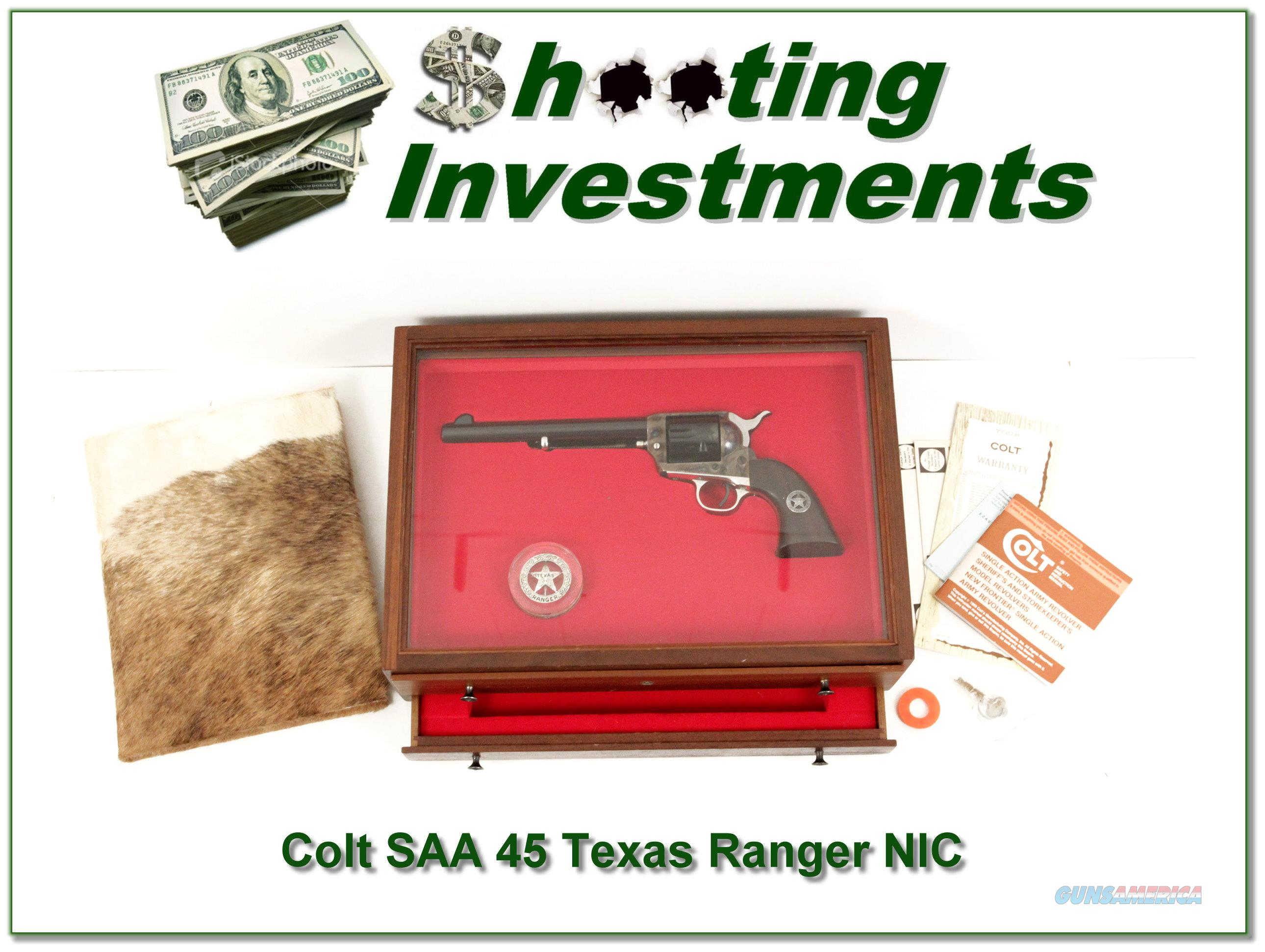 Colt SAA 45 7.5in Texas Ranger New in Display Case!  Guns > Pistols > Colt Single Action Revolvers - 2nd Gen.