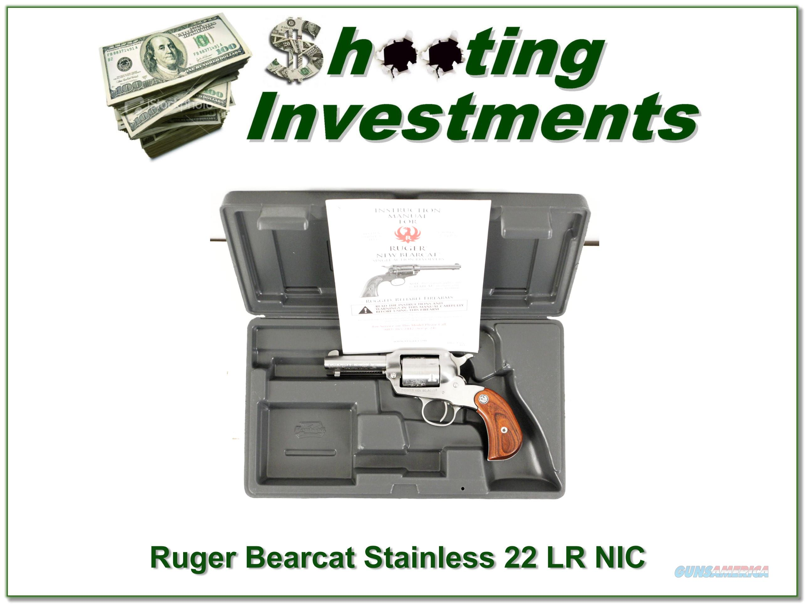 Ruger Bearcat 3in Stainless 22 Engraved NIC!  Guns > Pistols > Ruger Single Action Revolvers > Bearcat