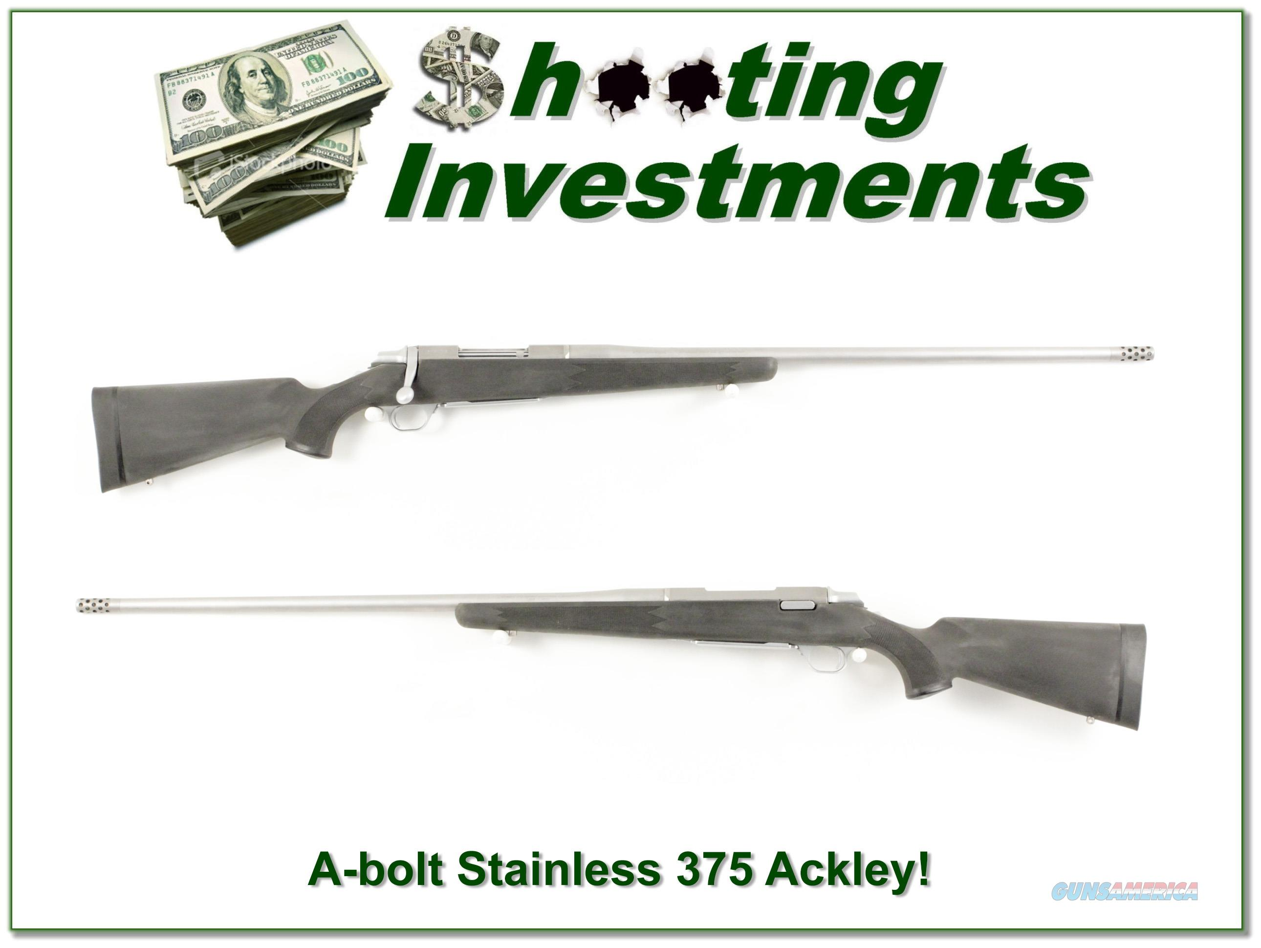 Browning A-bolt Stainless Stalker custom 375 Ackley  Guns > Rifles > Browning Rifles > Bolt Action > Hunting > Stainless