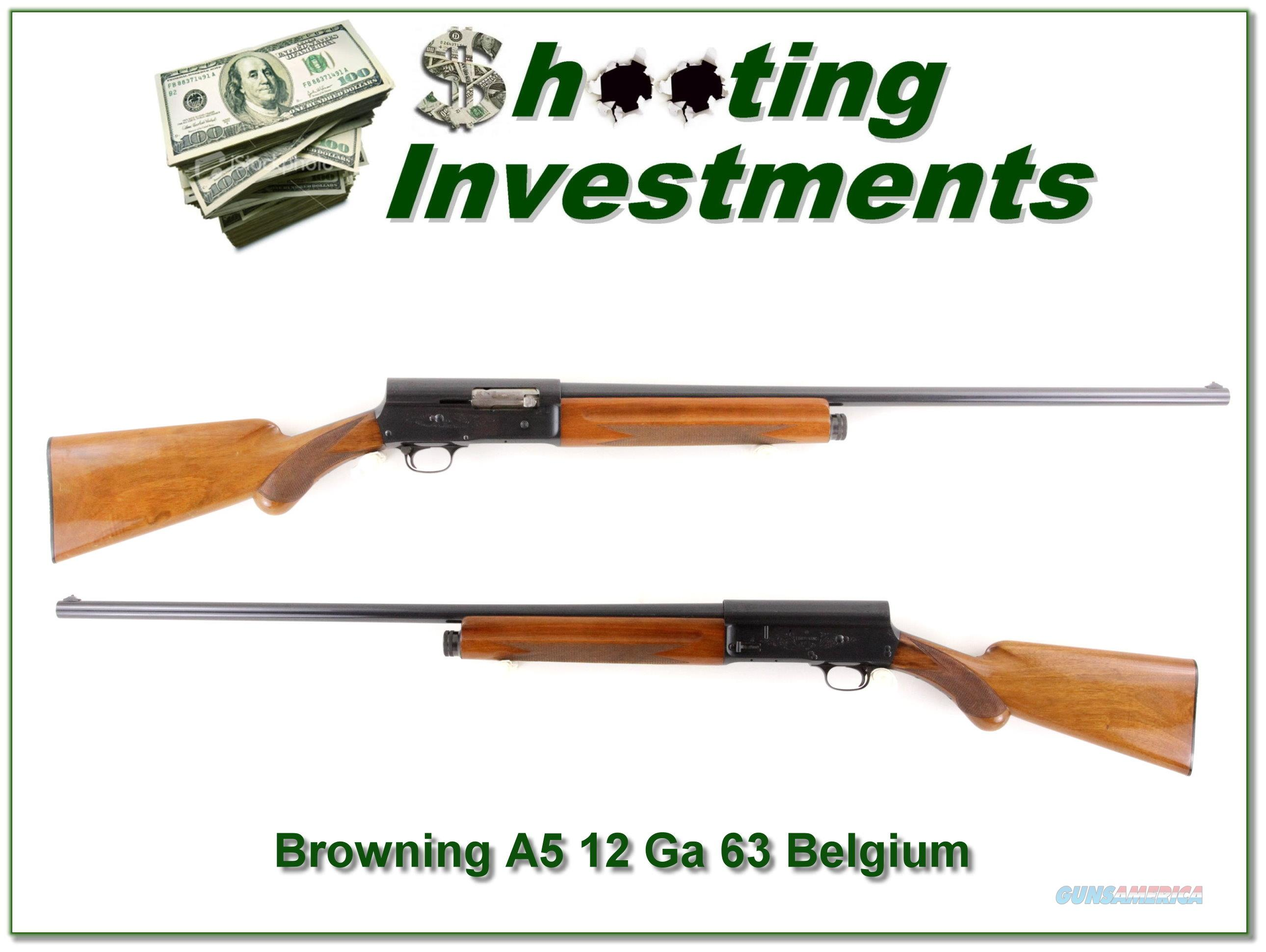 Browning A5 1963 Belgium 12 Ga Blond  Guns > Shotguns > Browning Shotguns > Autoloaders > Hunting