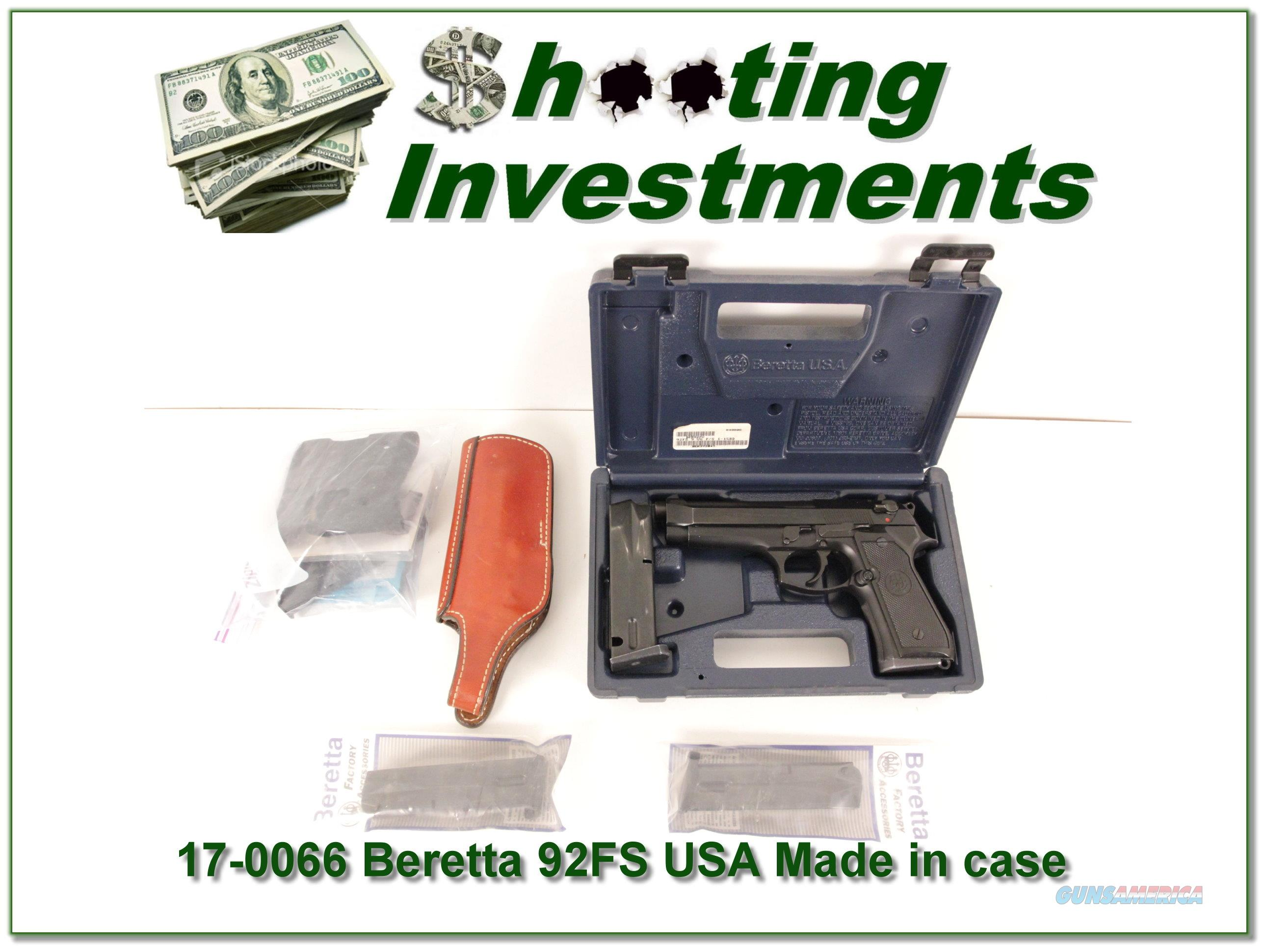 Beretta 92 FS 92FS USA Made 5 MAGS!  Guns > Pistols > Beretta Pistols > Model 92 Series