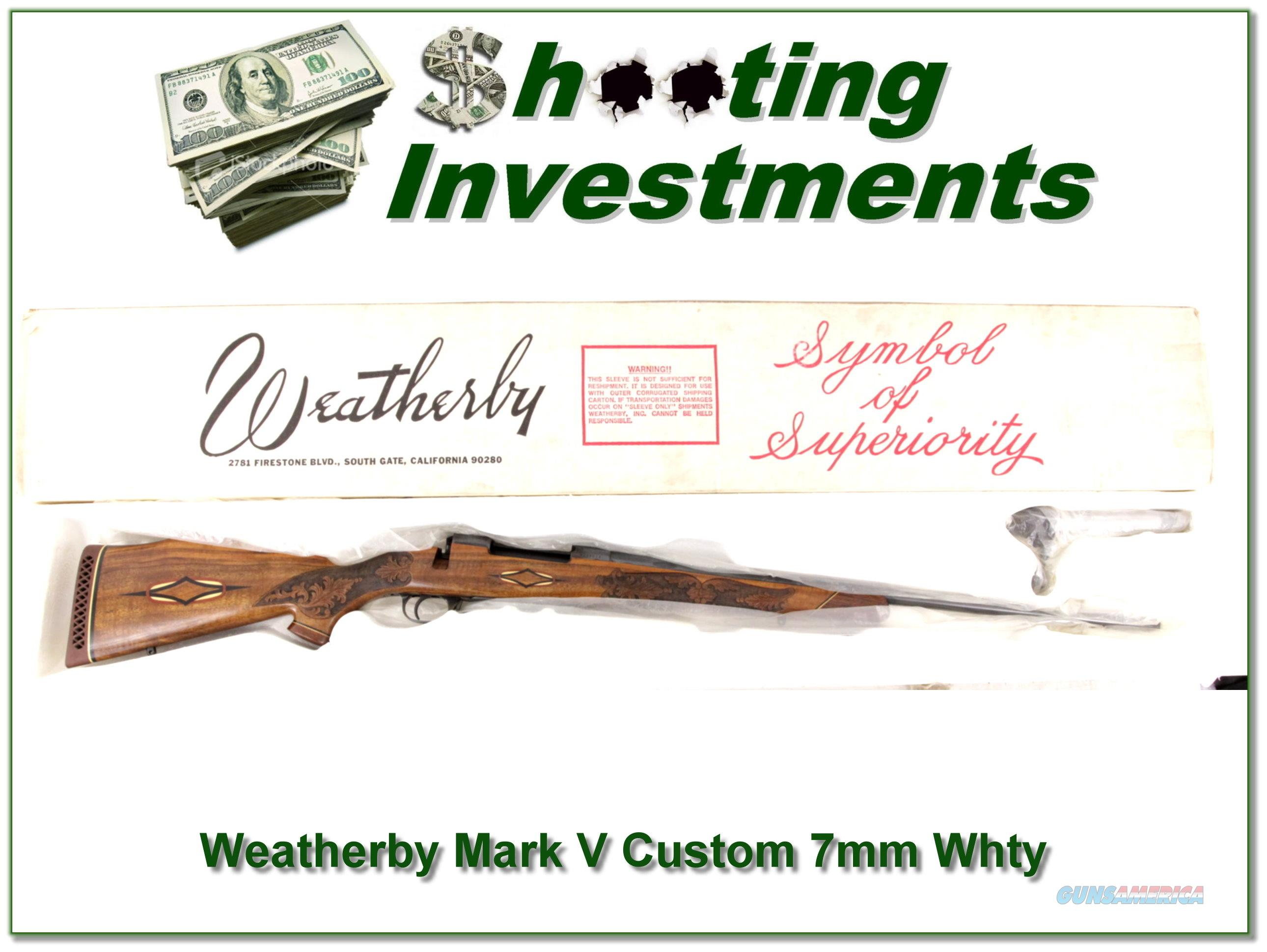 Weatherby Mark V Custom 7mm new condition  Guns > Rifles > Weatherby Rifles > Sporting