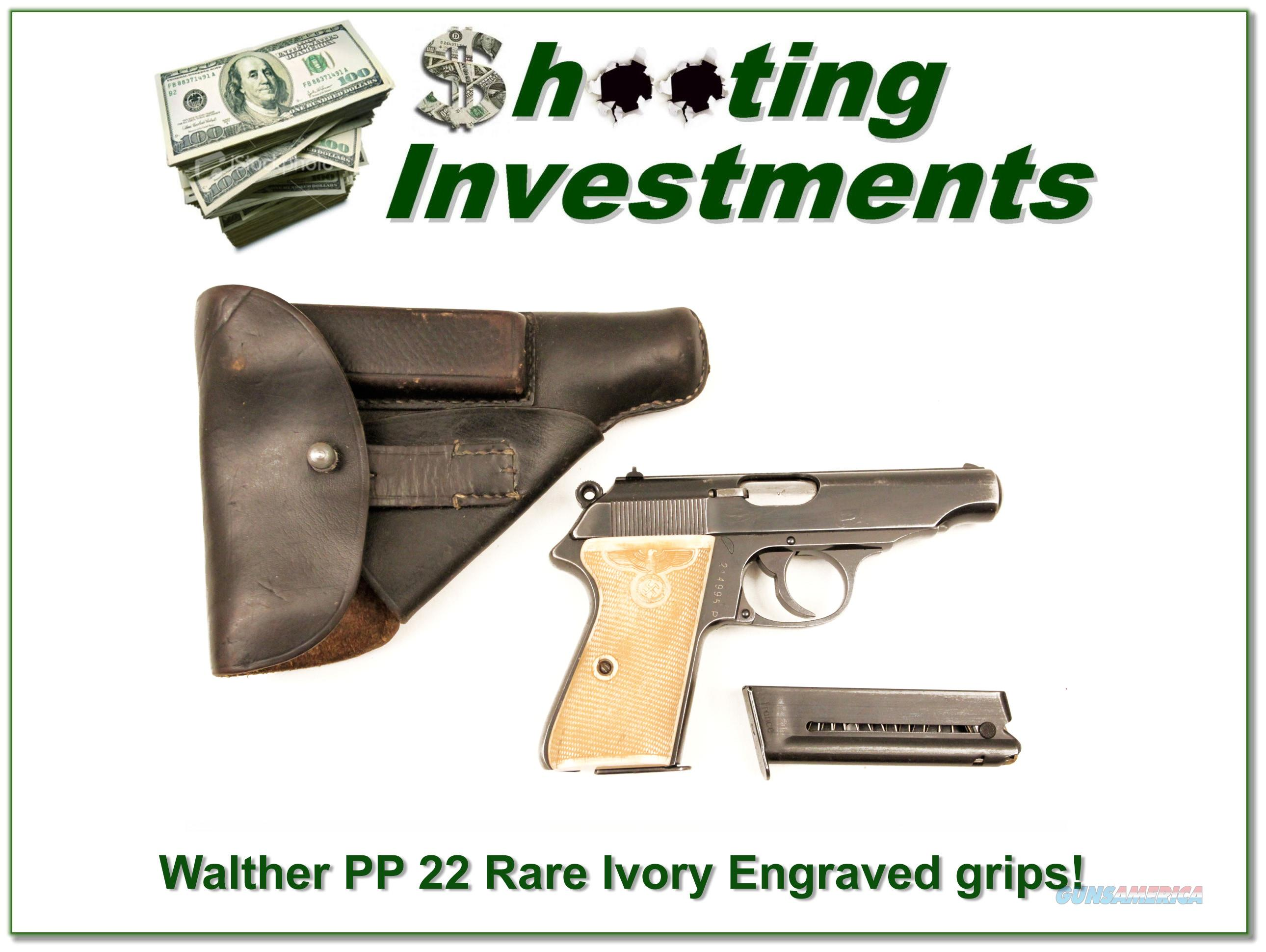 Walther Model PP 22 Semi Auto Ivory Factory Grips!  Guns > Pistols > Walther Pistols > Post WWII > P22