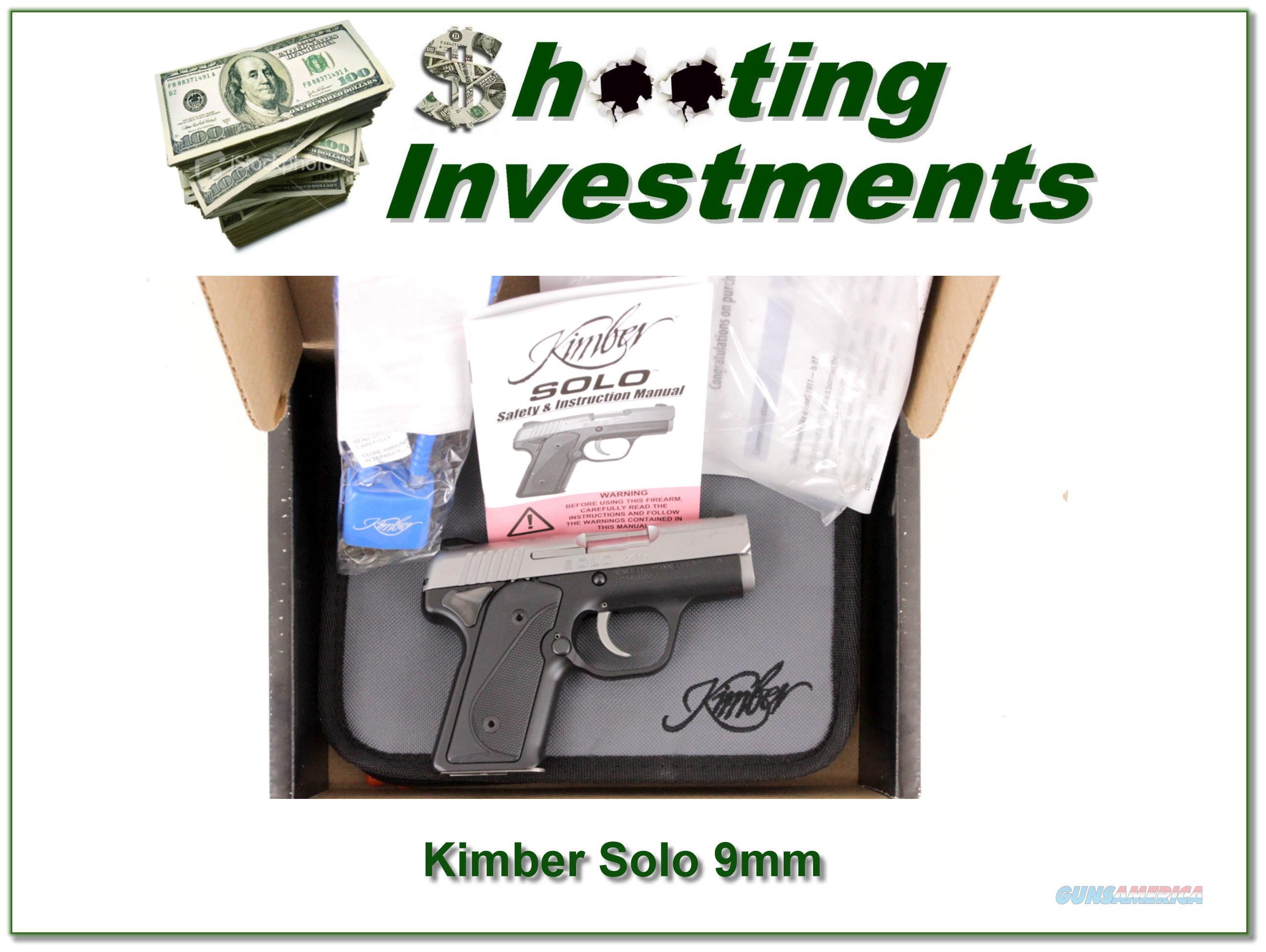 Kimber Solo Carry Stainless 9mm NIB!  Guns > Pistols > Kimber of America Pistols > Micro 9