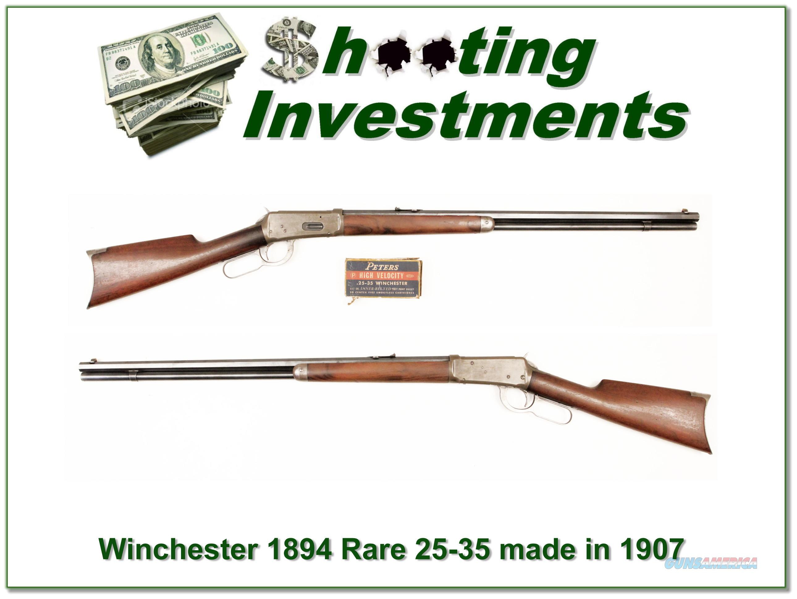 Winchester 1894 25-35 made in 1907!  Guns > Rifles > Winchester Rifles - Modern Lever > Model 94 > Pre-64