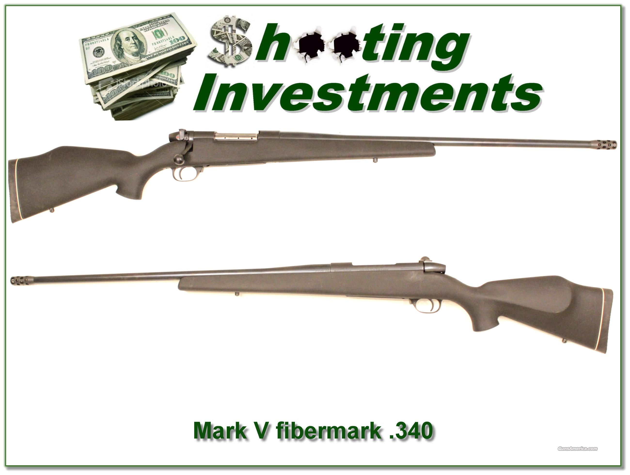 Weatherby Fibermark Mark V 340 Wthy Mag  Guns > Rifles > Weatherby Rifles > Sporting
