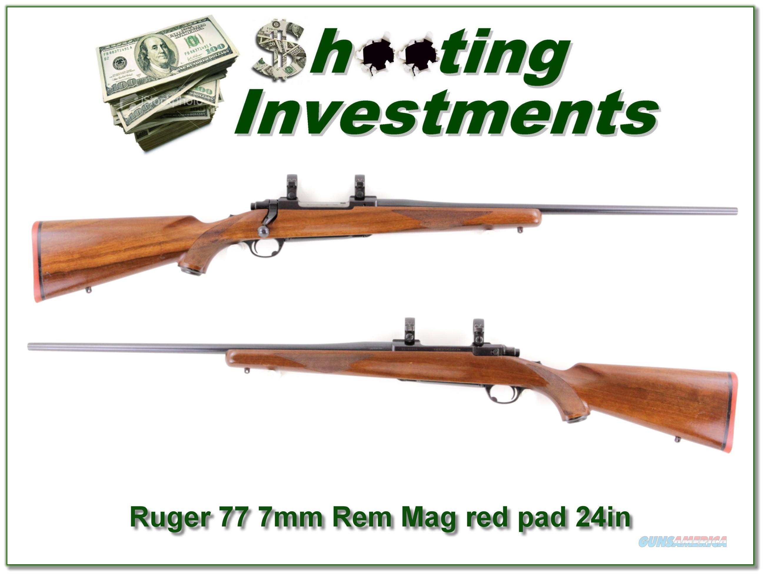 Ruger 77 Tang Safety Red Pad 7mm Rem Mag  Guns > Rifles > Ruger Rifles > Model 77