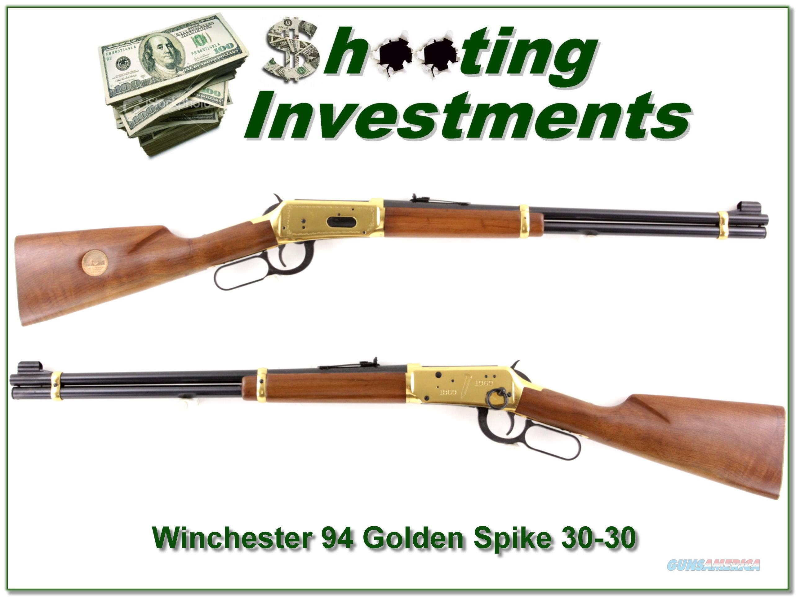 Winchester 94 Golden Spike 30-30 Carbine Exc Cond  Guns > Rifles > Winchester Rifle Commemoratives