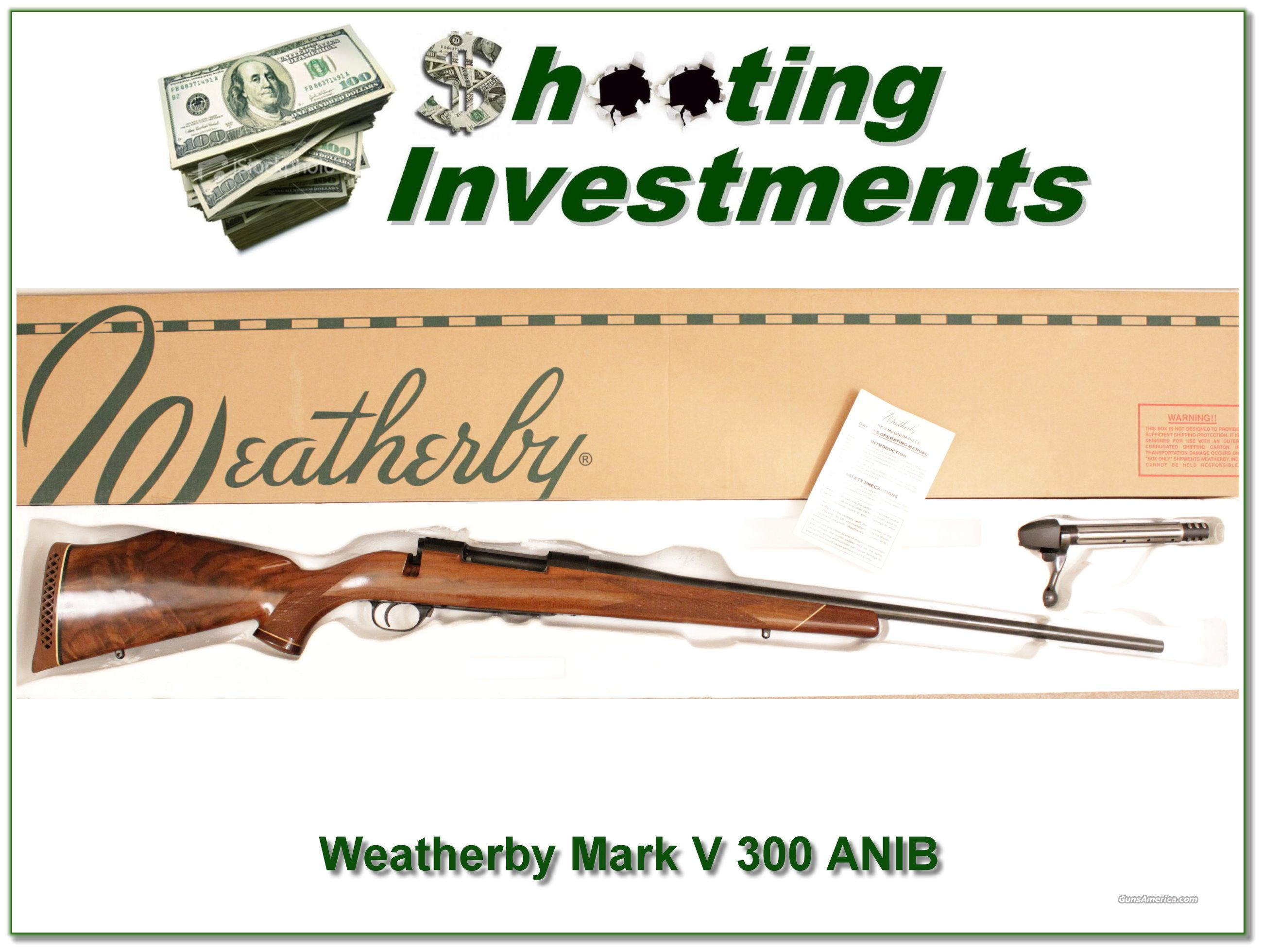 Weatherby Mark V  Deluxe 300 ANIB XX Wood  Guns > Rifles > Weatherby Rifles > Sporting