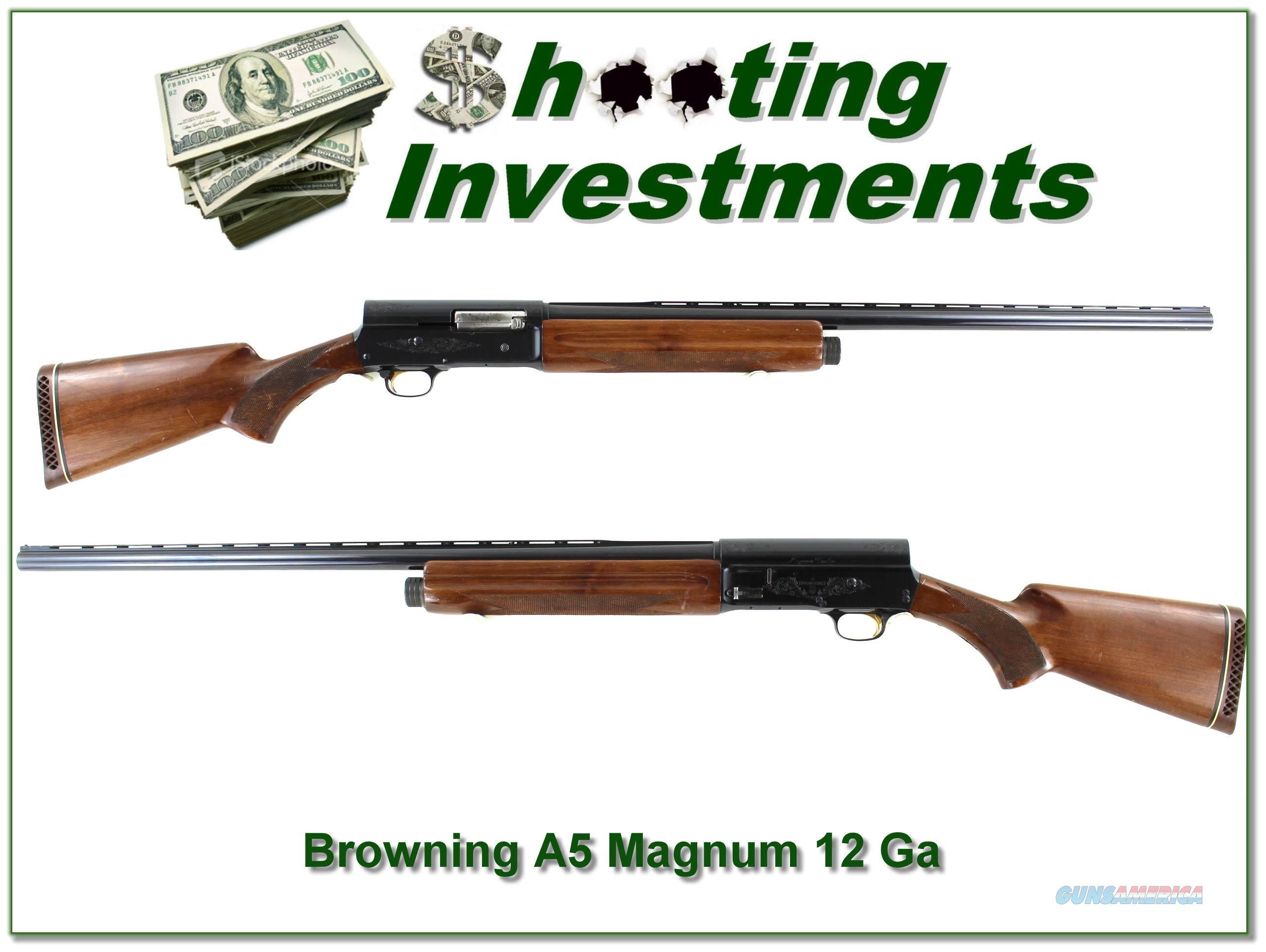 Browning A5 Magnum 12 Gauge 28in VR  Guns > Shotguns > Browning Shotguns > Autoloaders > Hunting