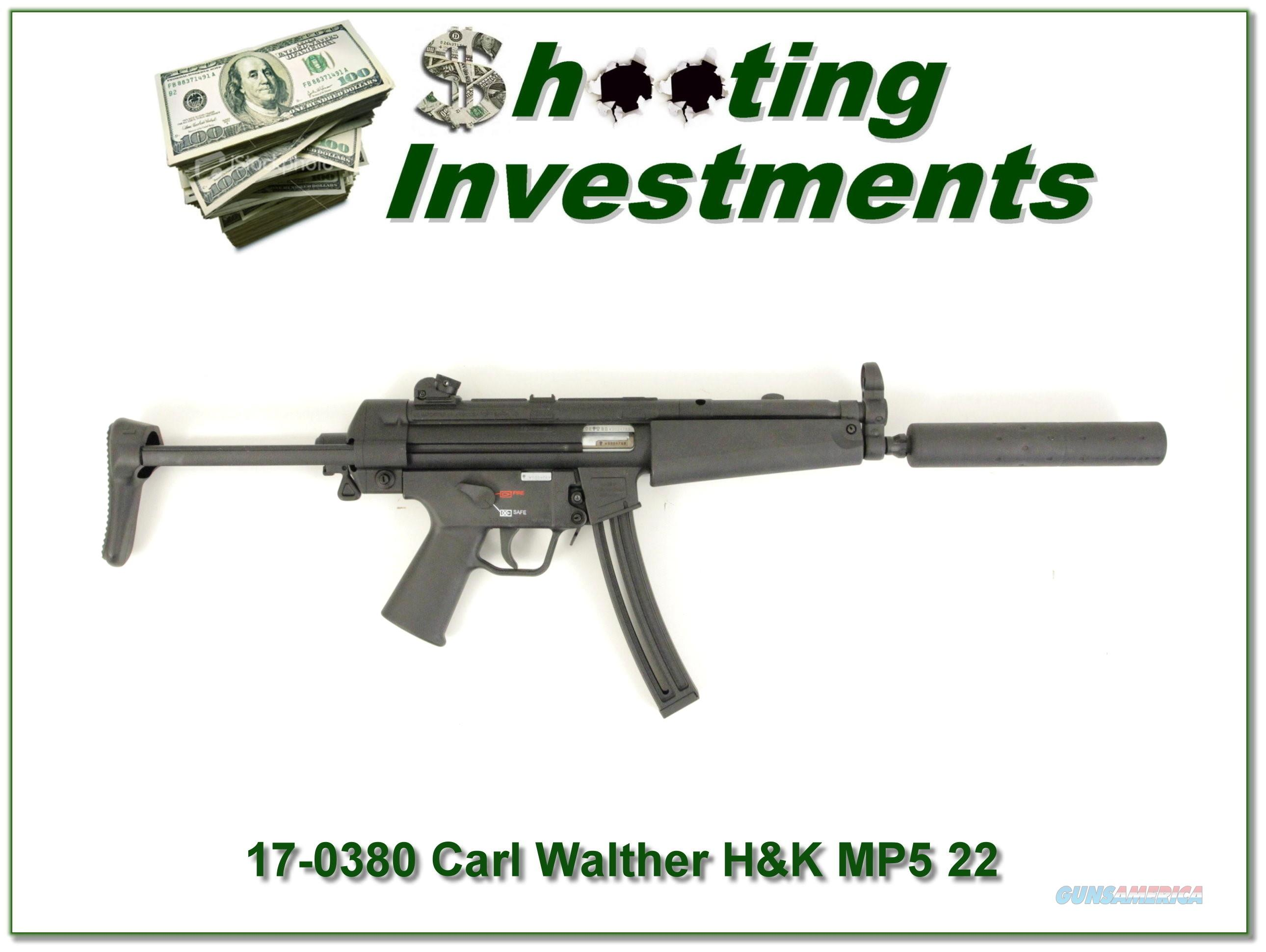 H&K Heckler & Koch MP5 22 LR by Walther  Guns > Rifles > Heckler & Koch Rifles > Sporting/Hunting