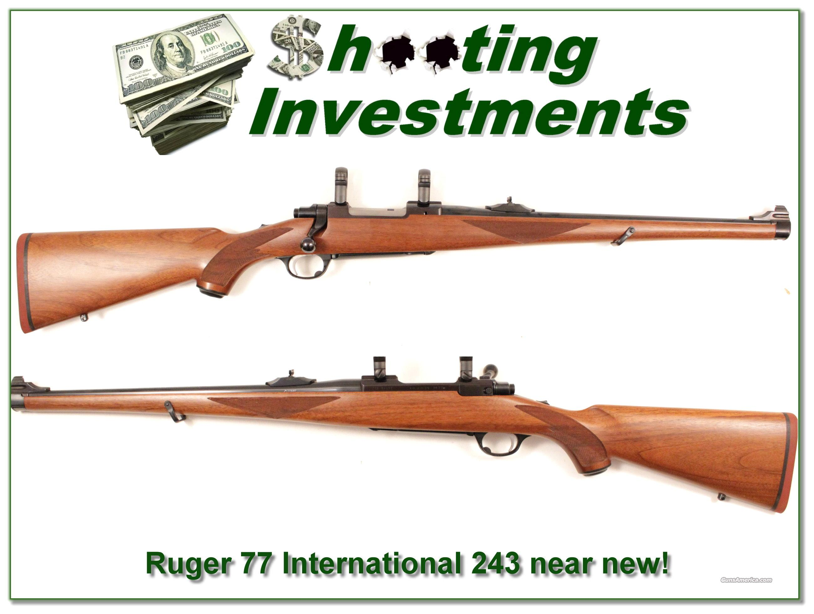 Ruger Model 77 International hard to find 243 Red Pad  Guns > Rifles > Ruger Rifles > Model 77