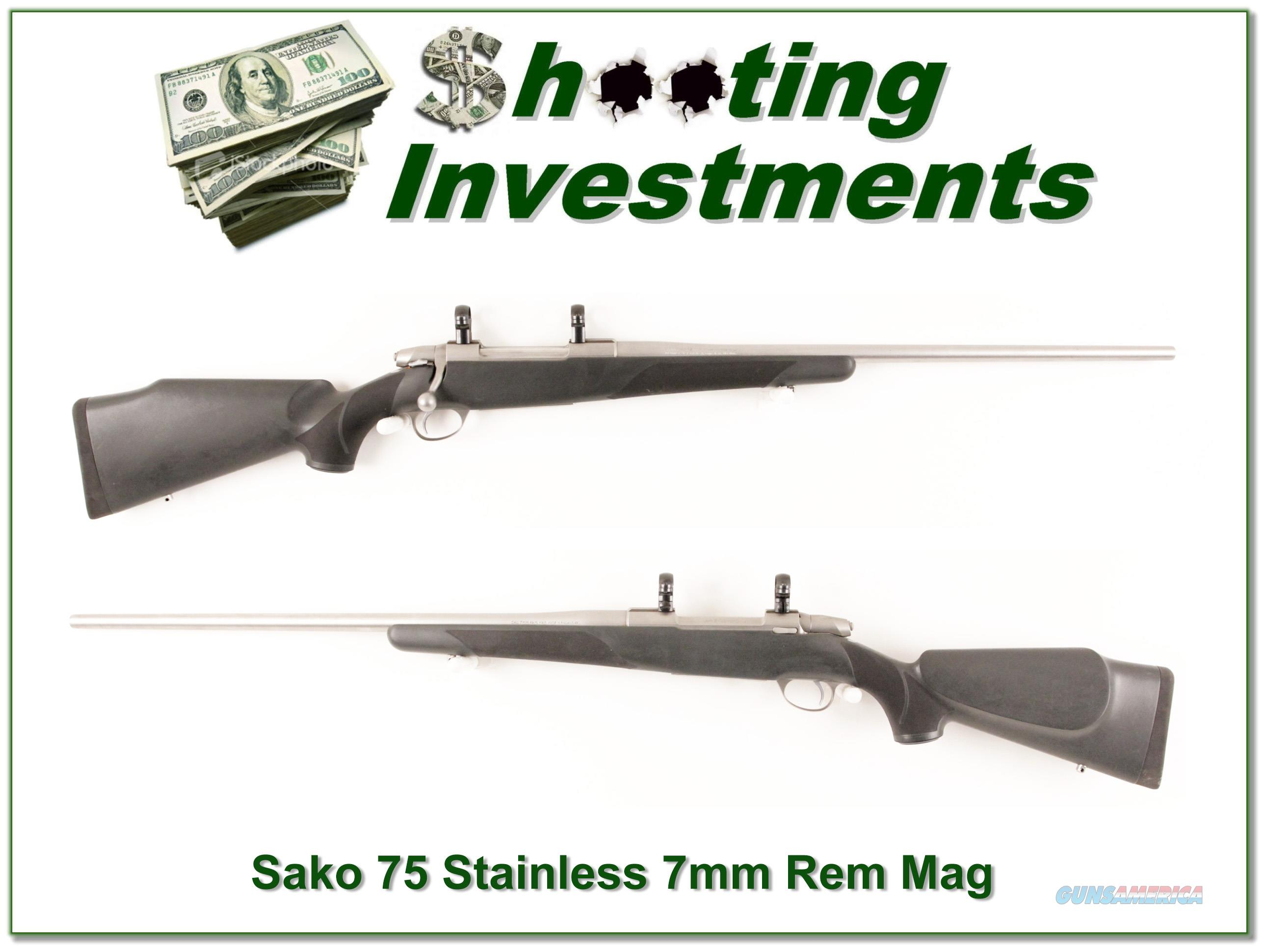 Sako V Stainless Steel 7mm Rem Mag Exc Cond  Guns > Rifles > Sako Rifles > Other Bolt Action