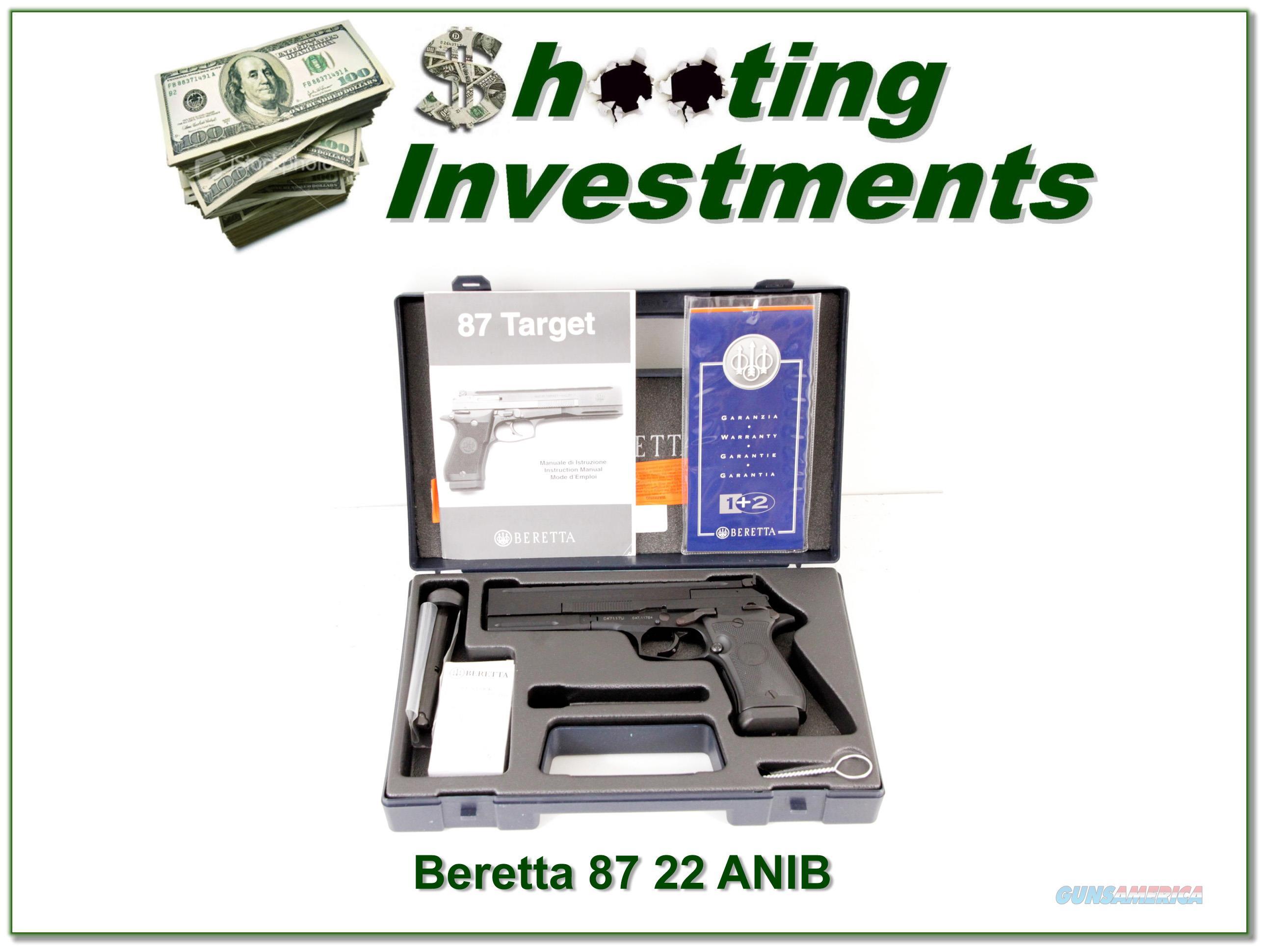 Beretta 87 TARGET 22 LR Pistol NIB  Guns > Pistols > Beretta Pistols > Polymer Frame