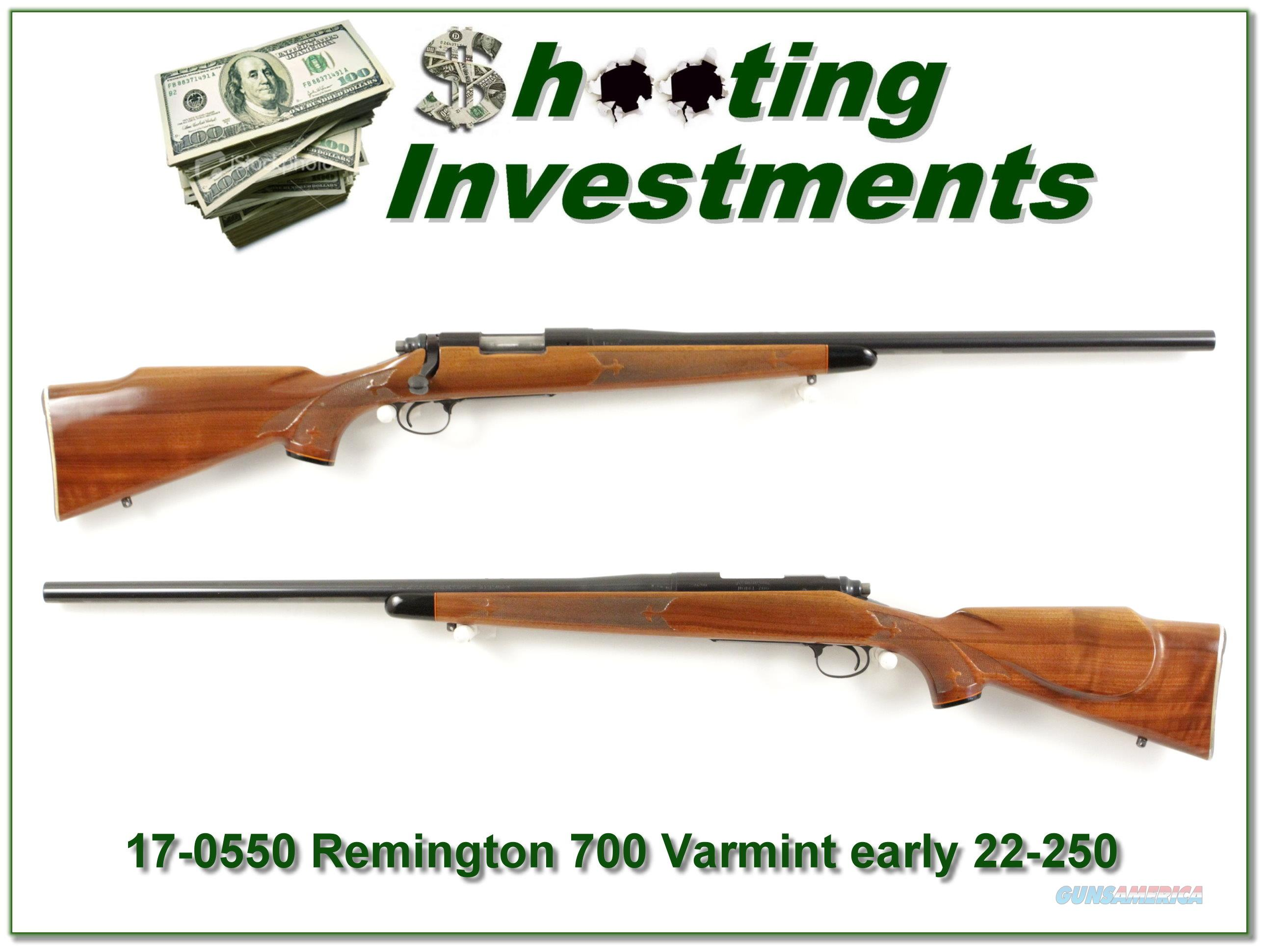 Remington 700 Varmint Special 22-250 early Pressed collector!  Guns > Rifles > Remington Rifles - Modern > Model 700 > Sporting